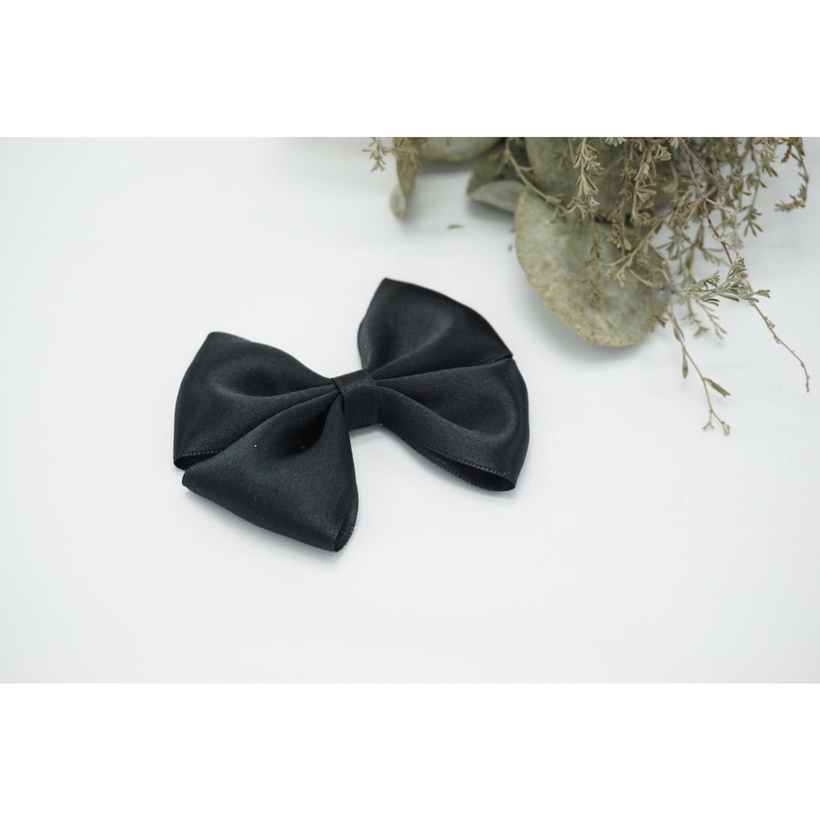 Petite Zara Satin Bow - Black