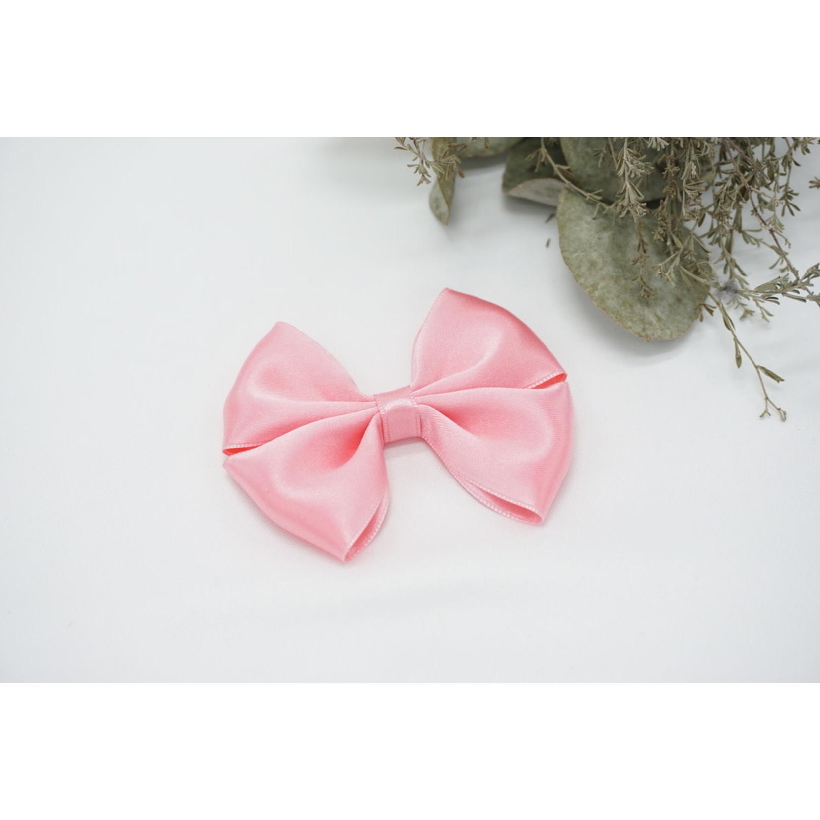 Satin Bow - Bright Pink