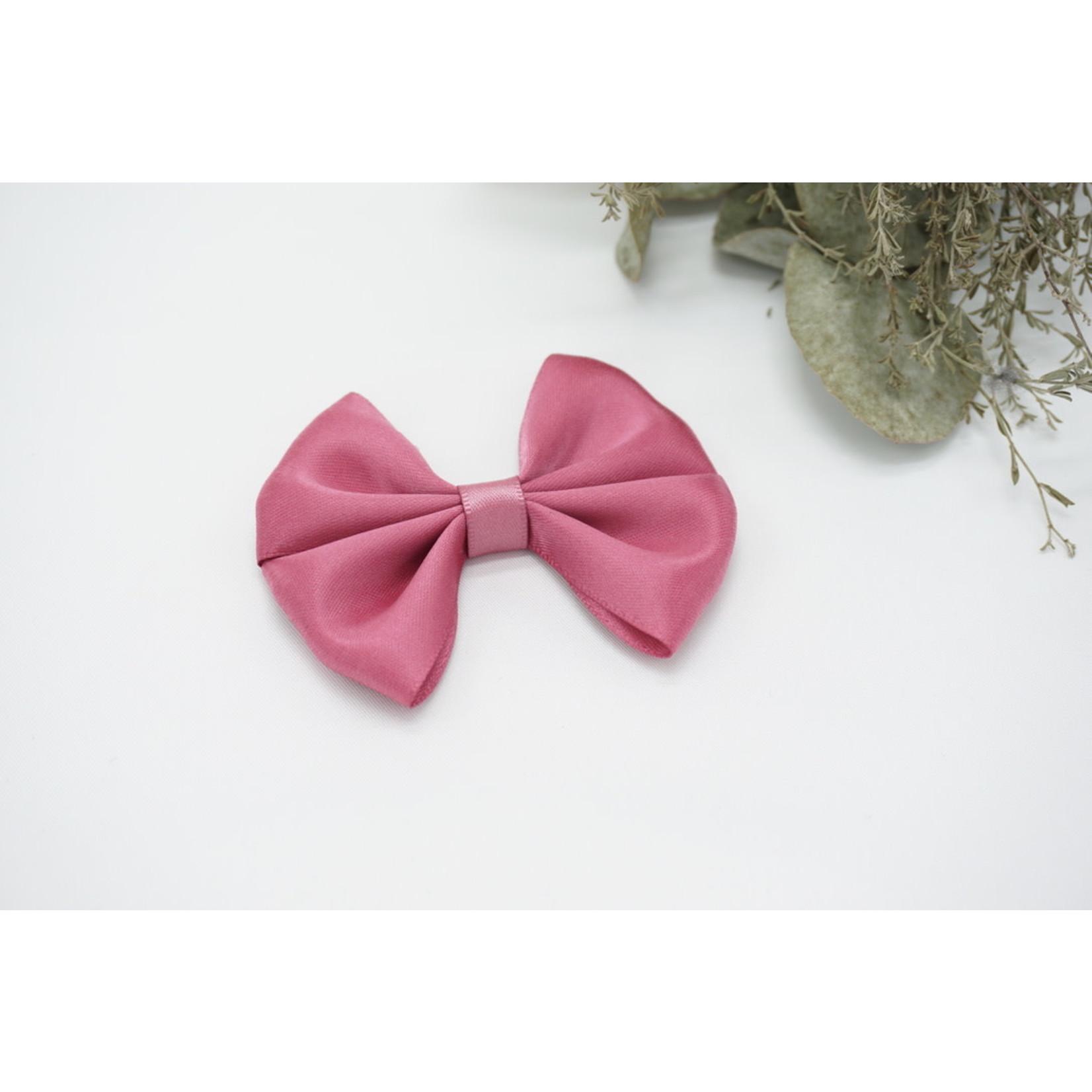 Petite Zara Satin Bow - Cassis