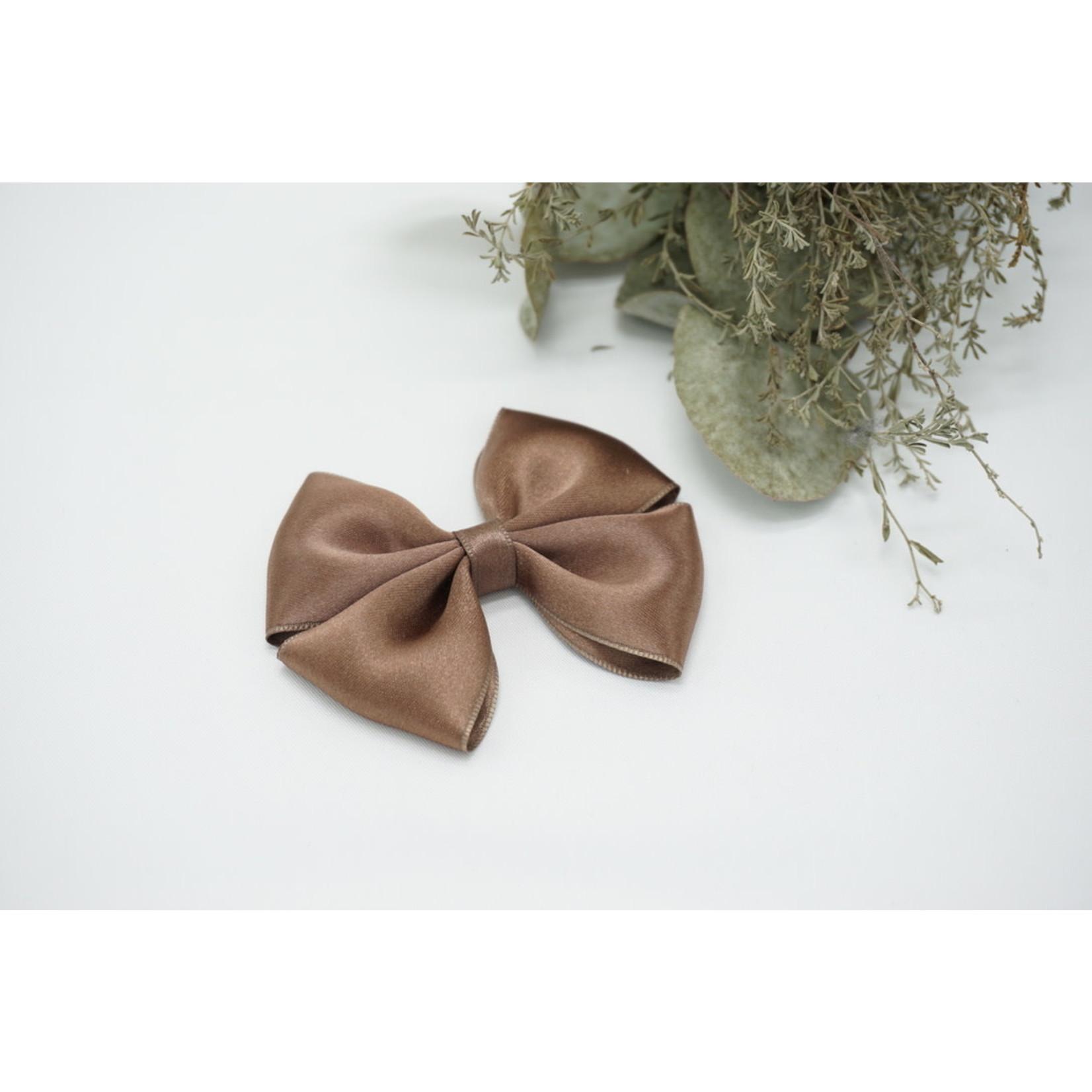 Petite Zara Satin Bow - Chocolate