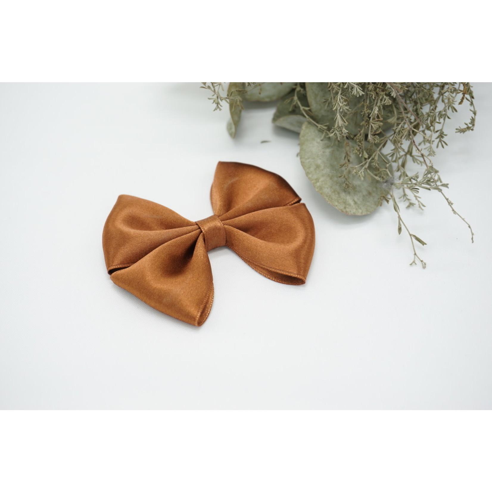 Petite Zara Satin Bow - Cinnamon