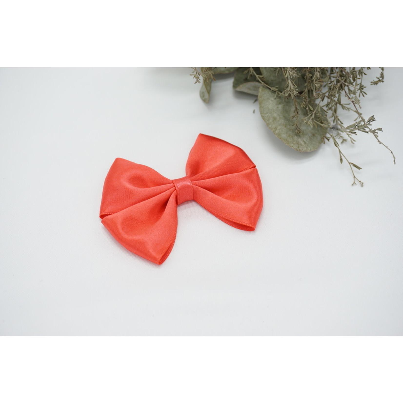 Petite Zara Satin Bow - Coral