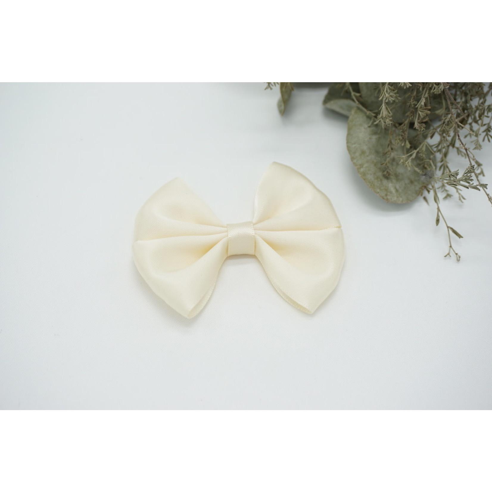 Petite Zara Satin Bow - Creme