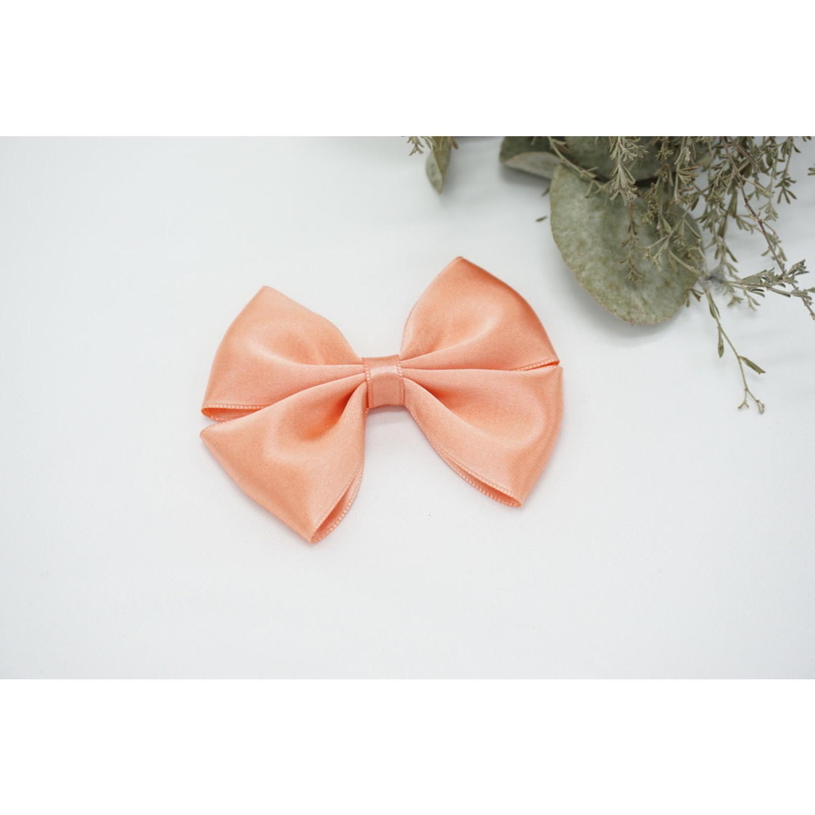 Petite Zara Satin Bow - Dark Salmon