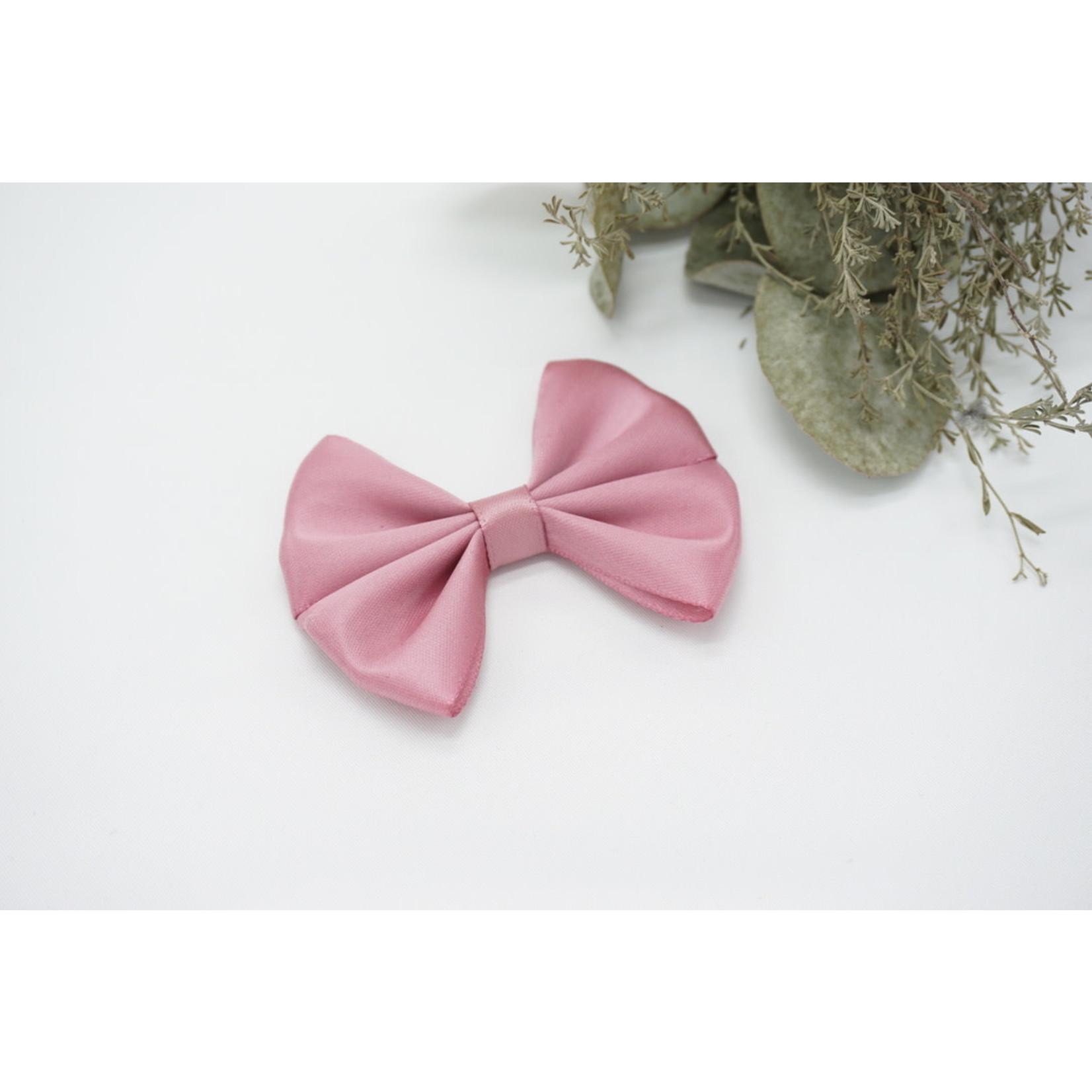 Petite Zara Satin Bow - Dusty Pink