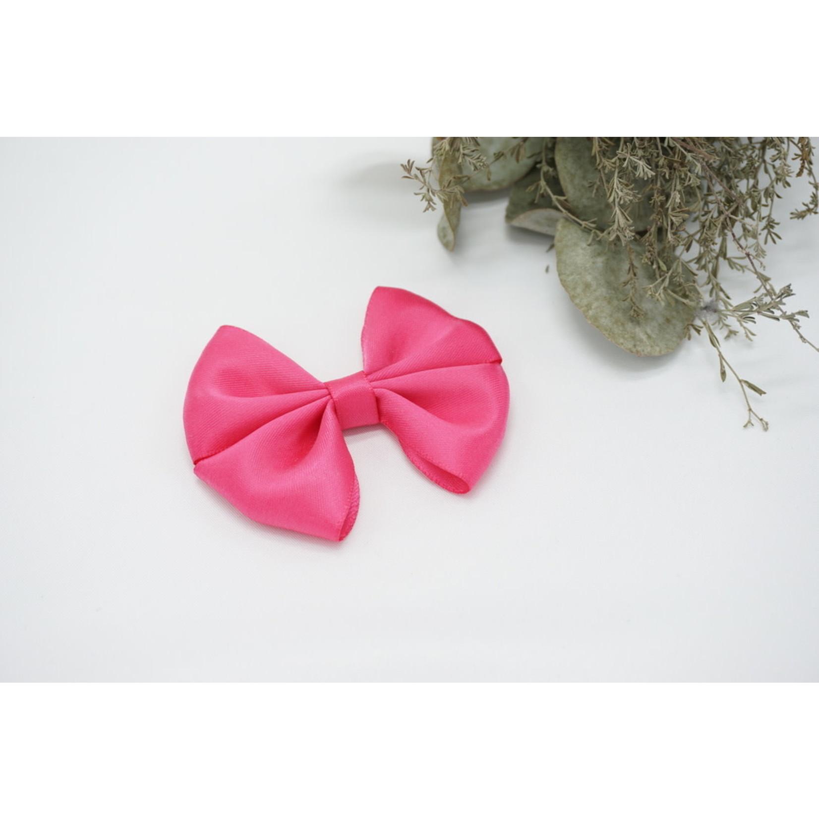 Petite Zara Satin Bow - Fuchsia