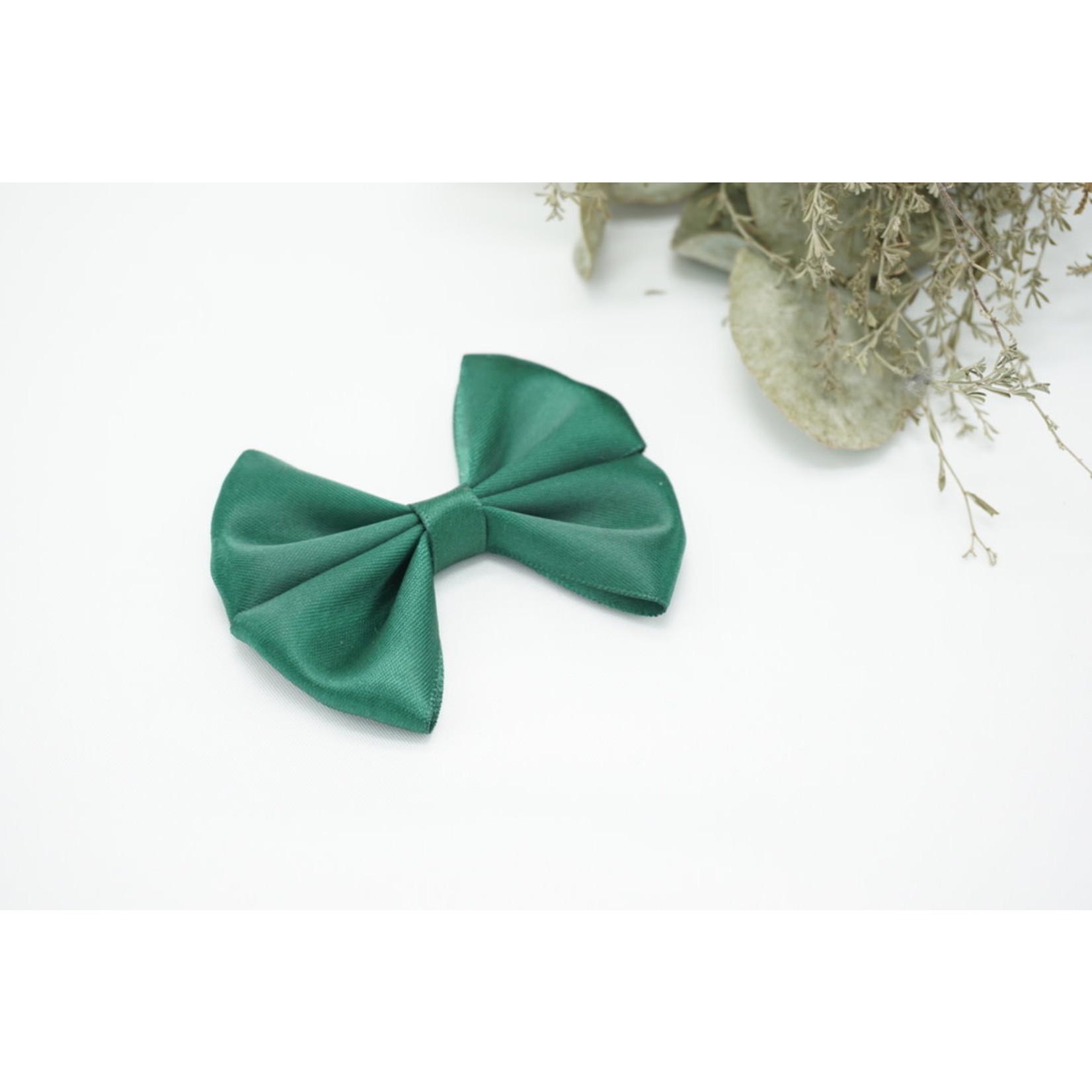 Petite Zara Satin Bow - Green