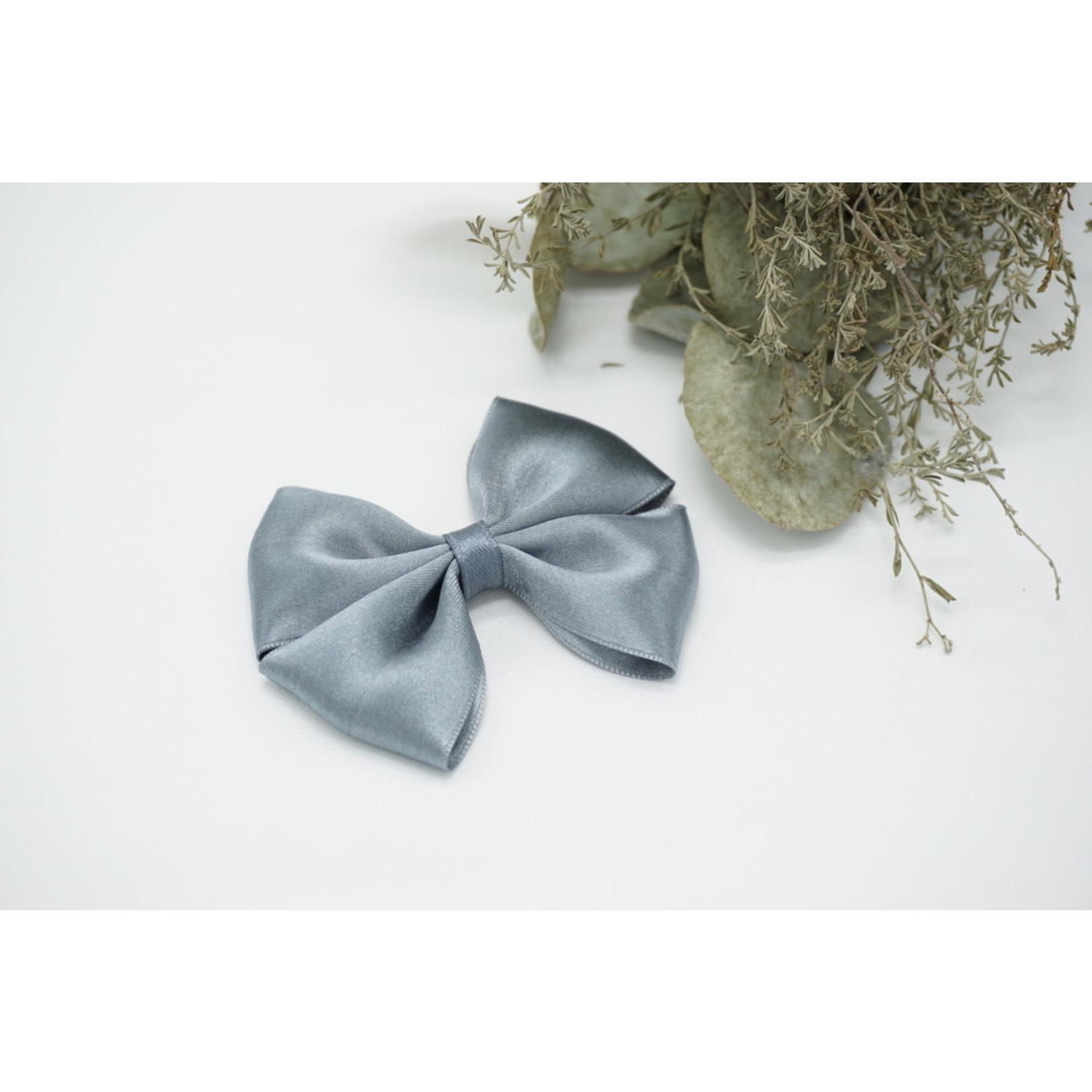 Petite Zara Satin Bow - Grey