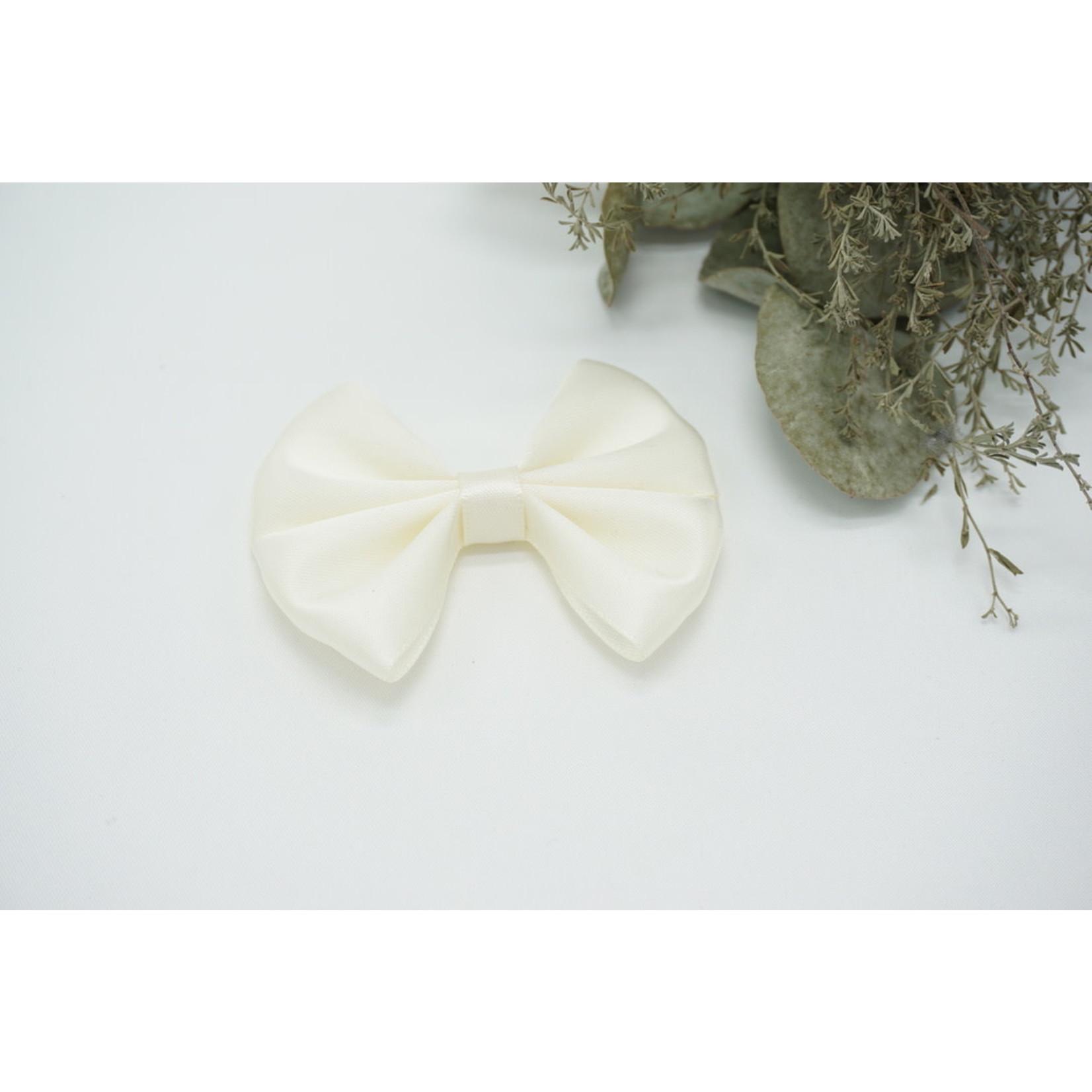 Petite Zara Satin Bow  - Ivory