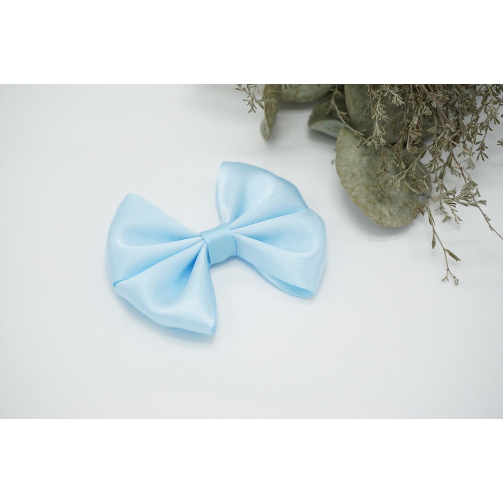 Petite Zara Satin Bow - Light Blue