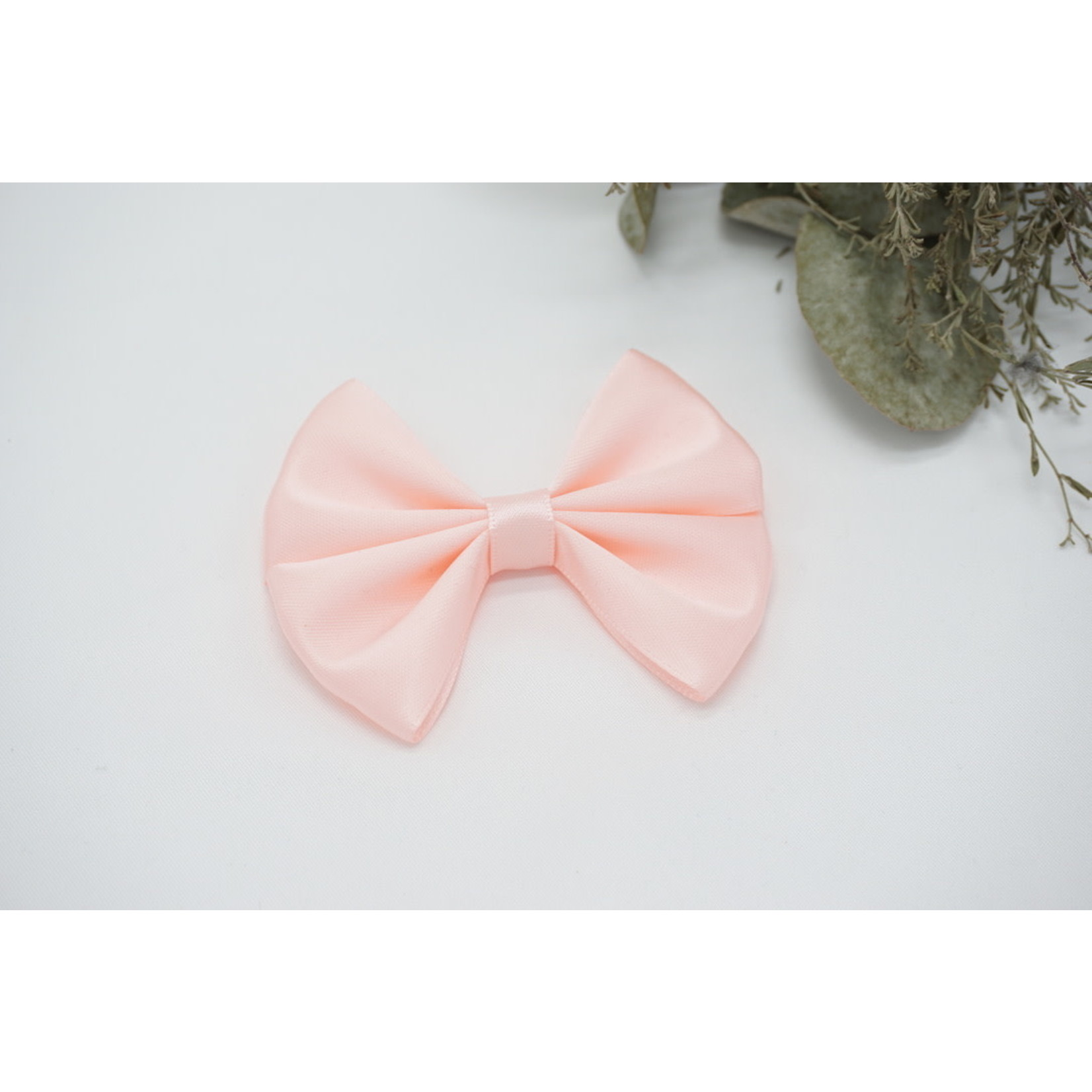 Petite Zara Satin Bow - Light Pink