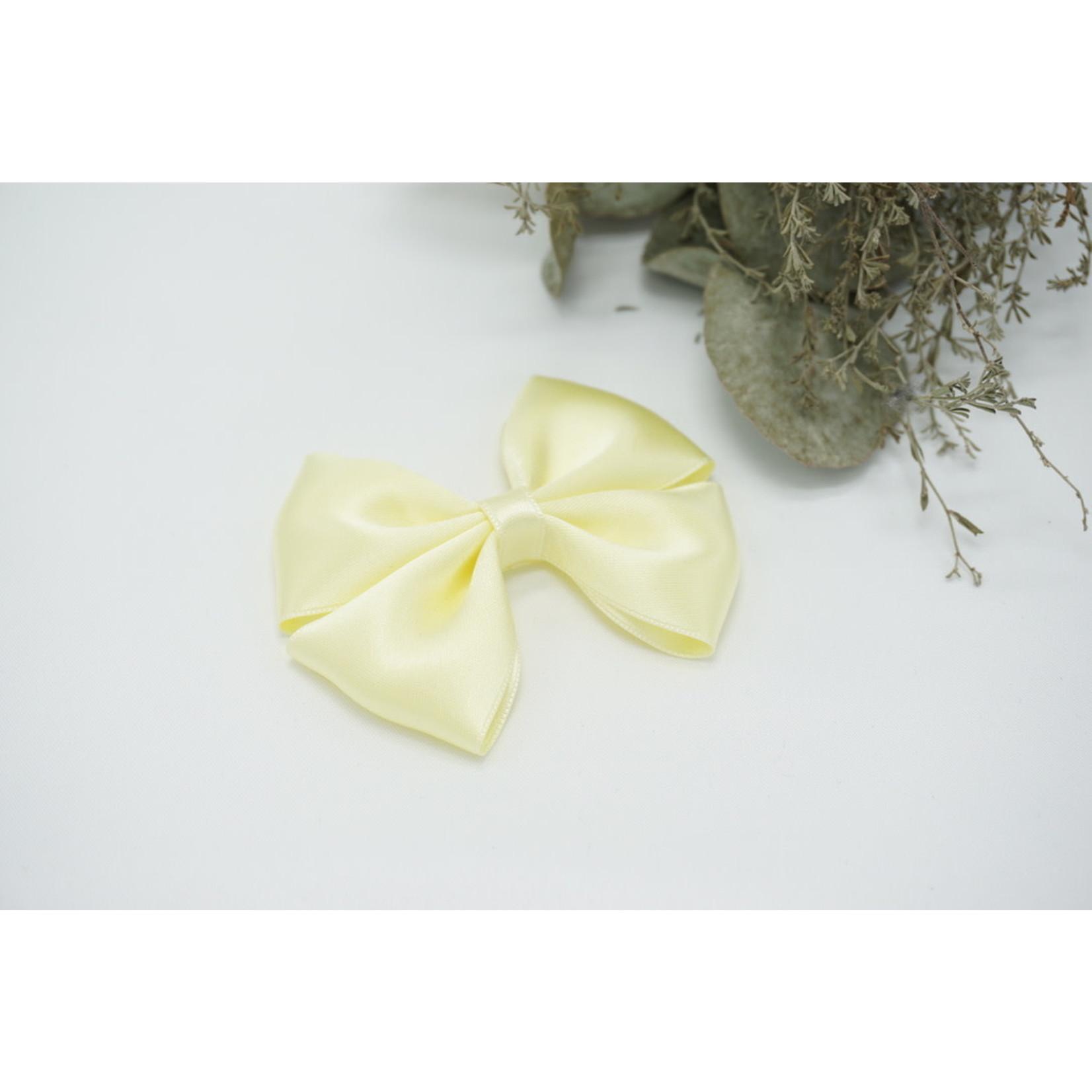 Petite Zara Satin Bow - Light Yellow