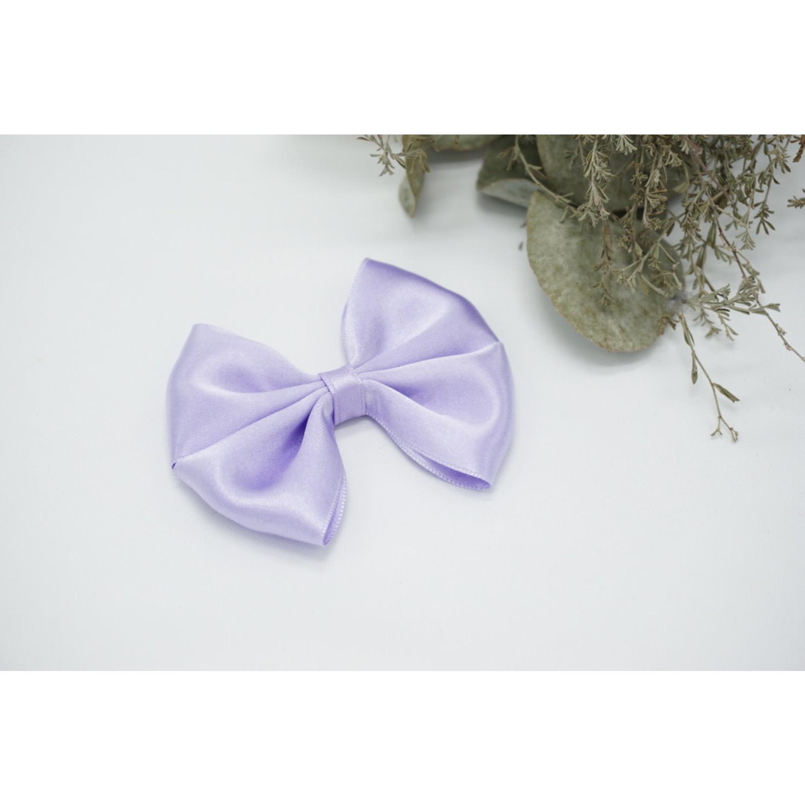 Petite Zara Satin Bow - Lilac