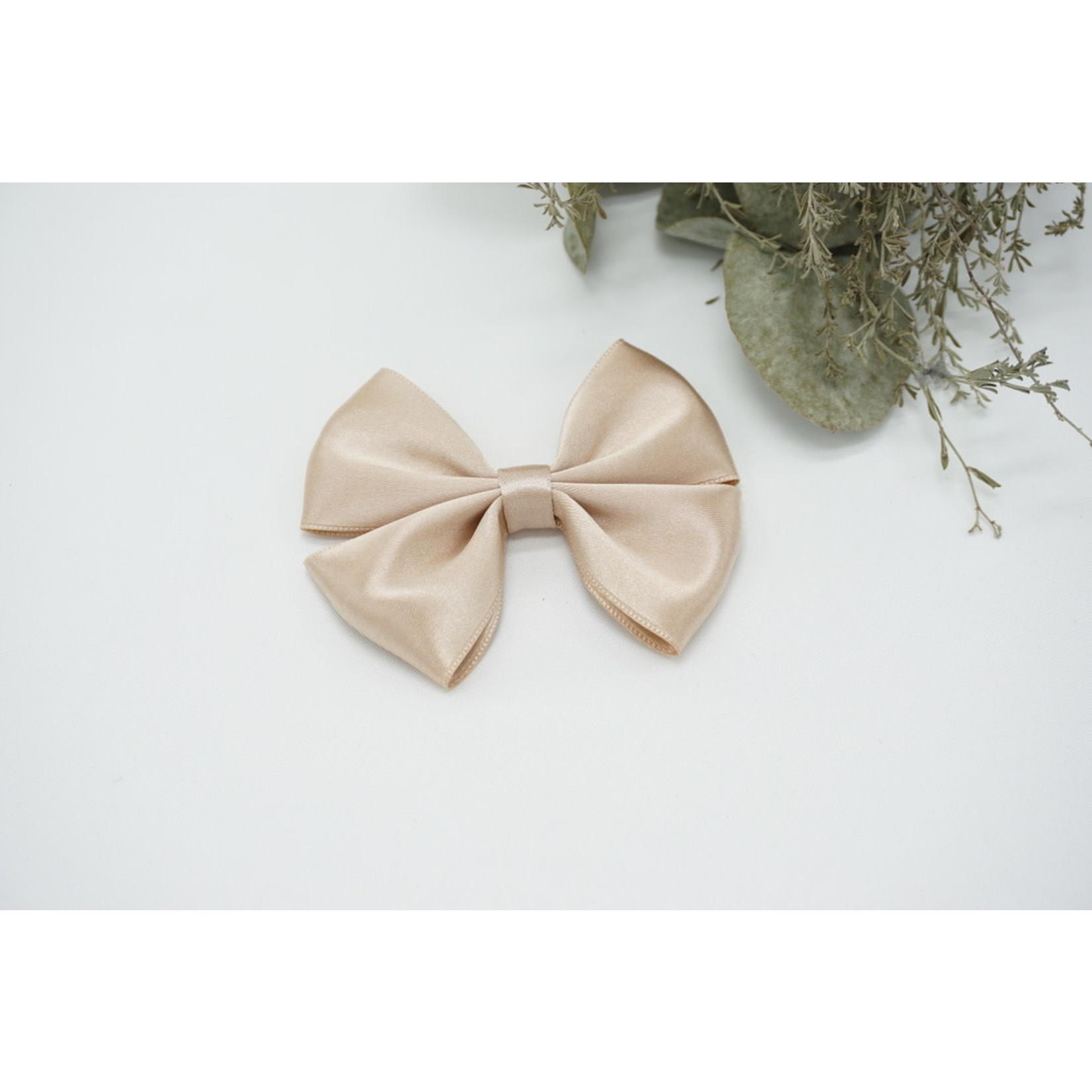 Satin Bow - Linen