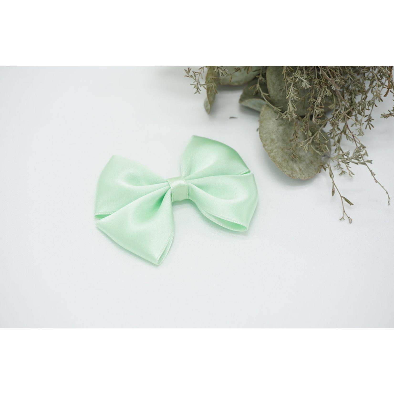 Petite Zara Satin Bow - Mint