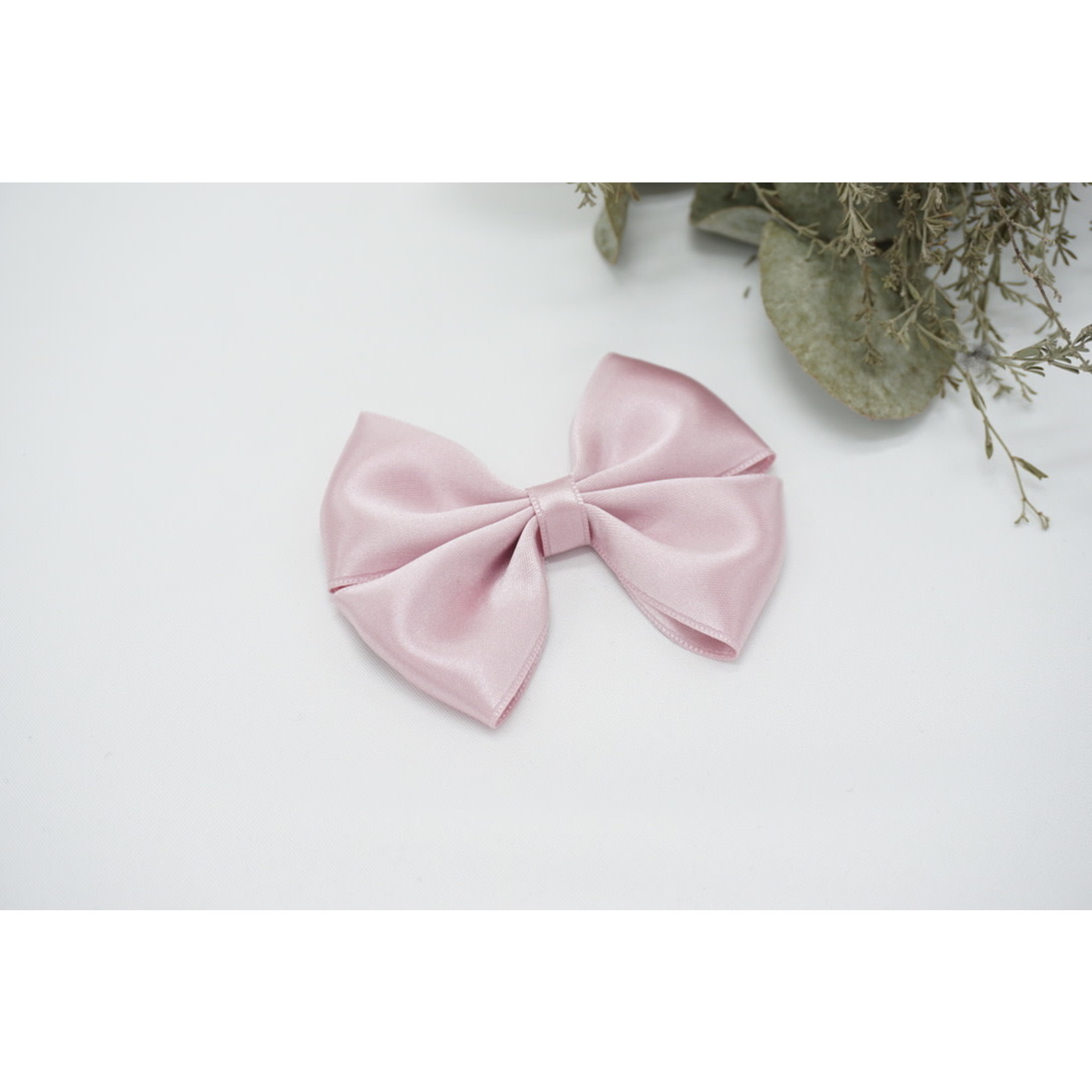 Petite Zara Satin Bow - Misty Rose