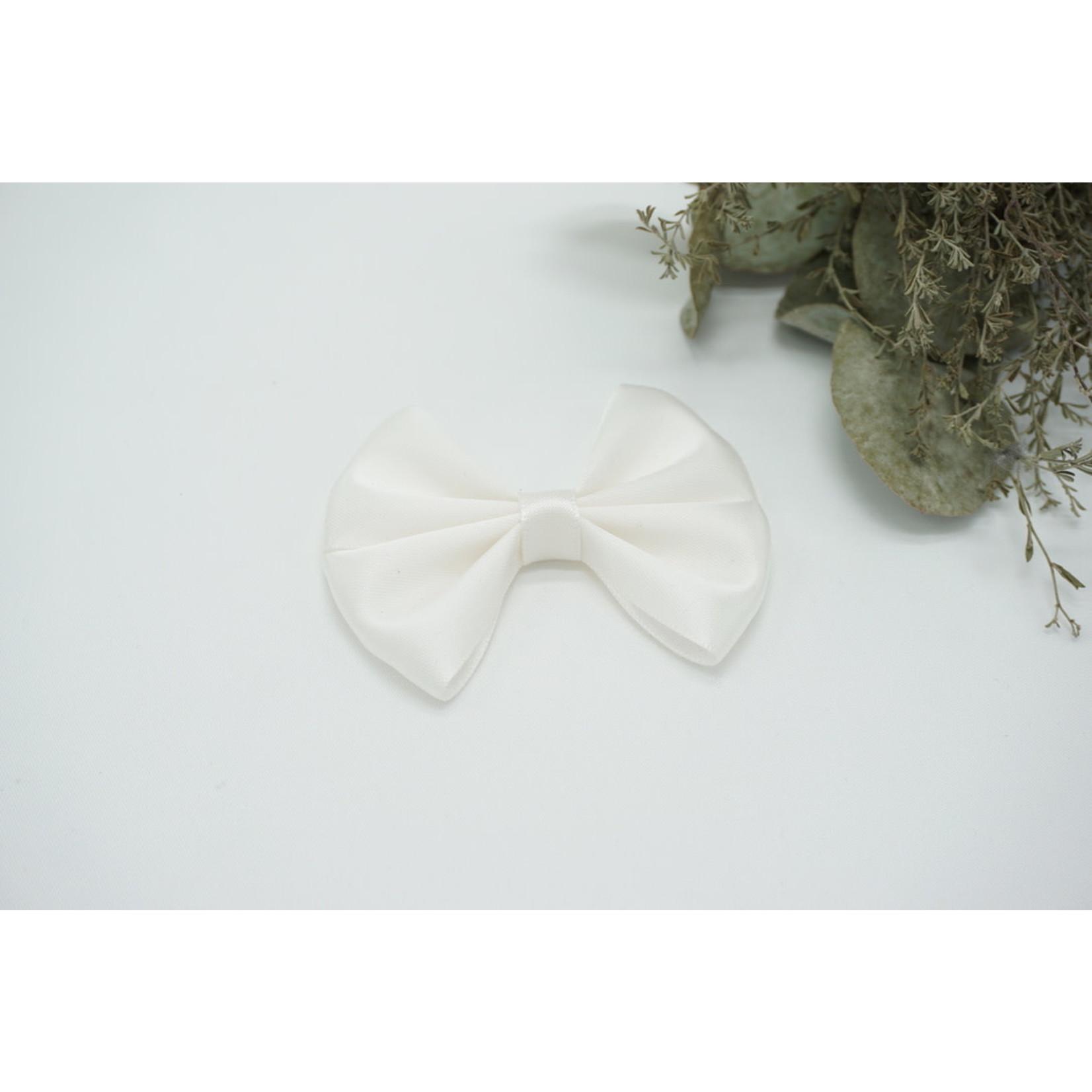 Petite Zara Satin Bow - Offwhite