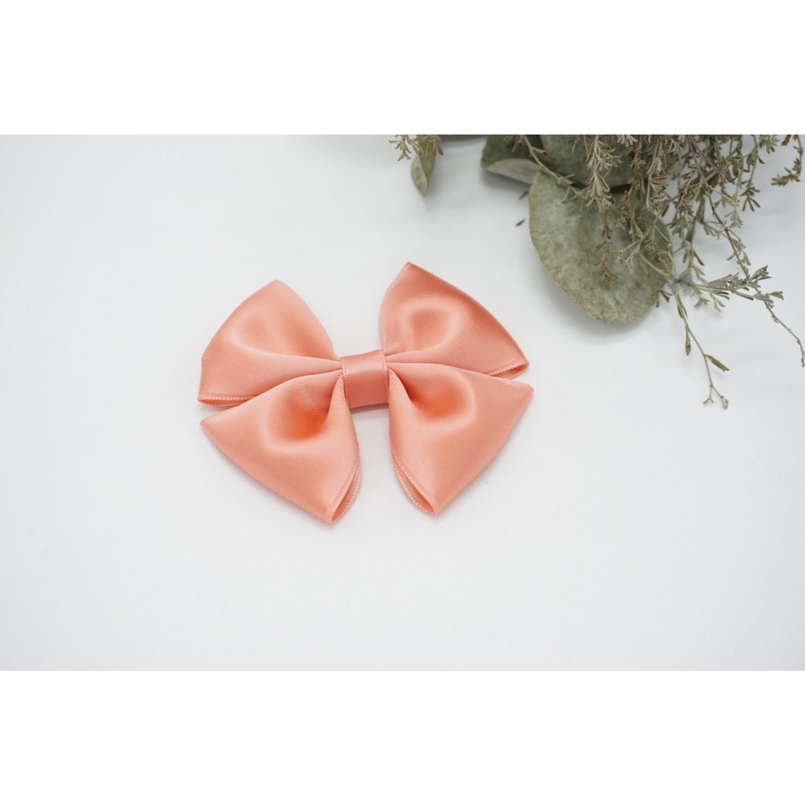 Petite Zara Satin Bow - Peach