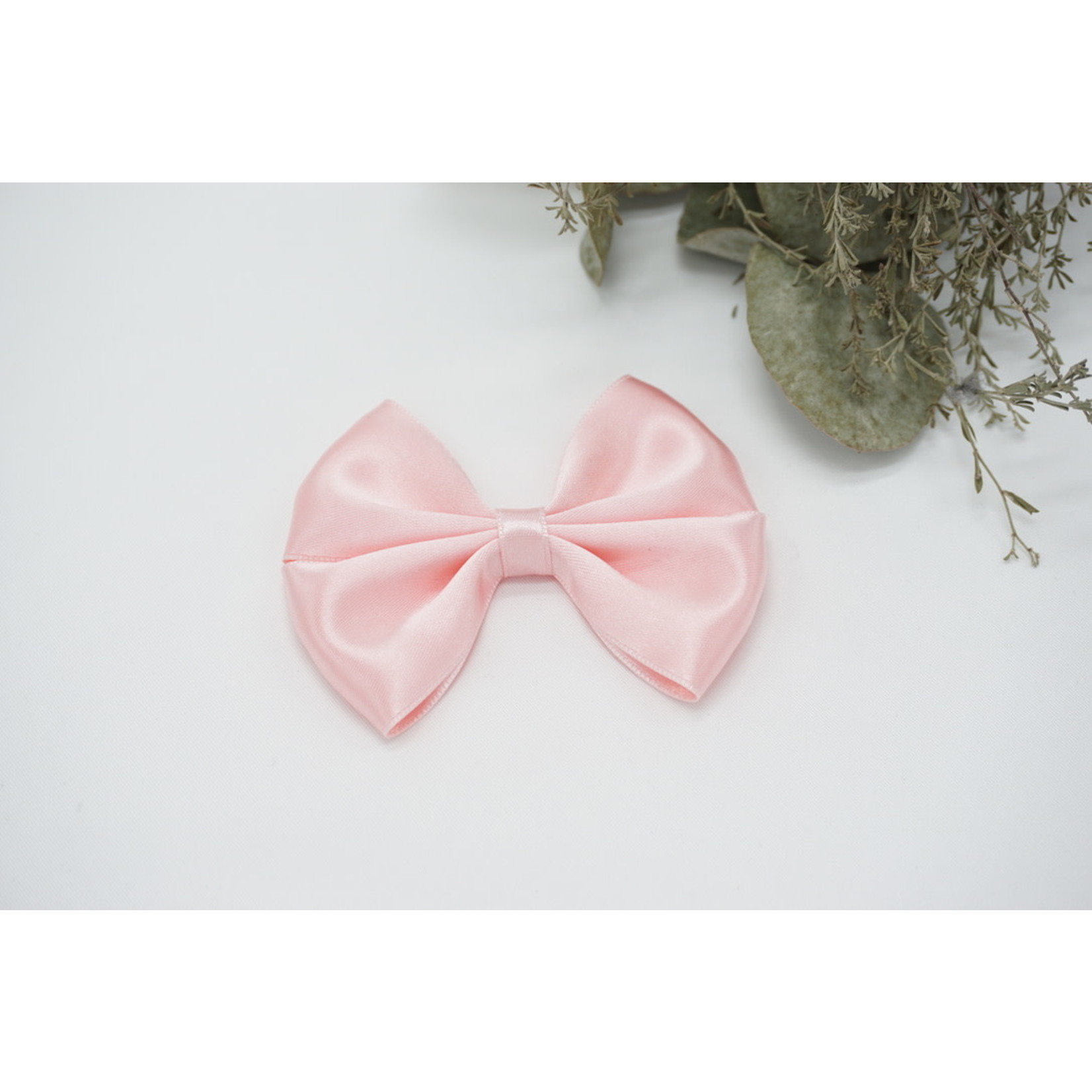 Petite Zara Satin Bow - Pink 1