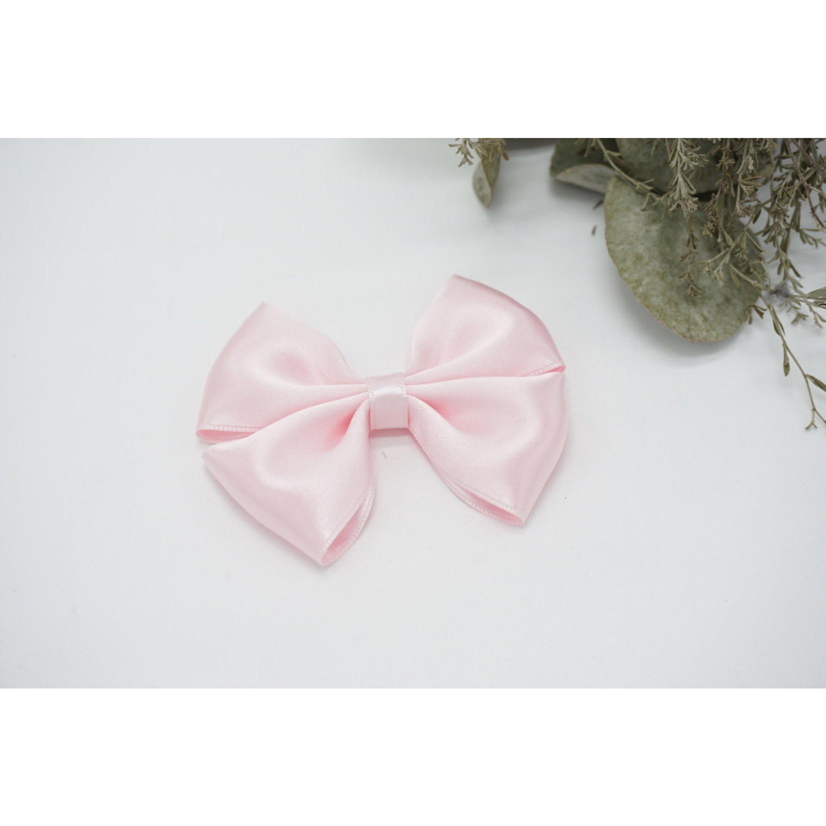 Petite Zara Satin Bow - Princess Pink 1
