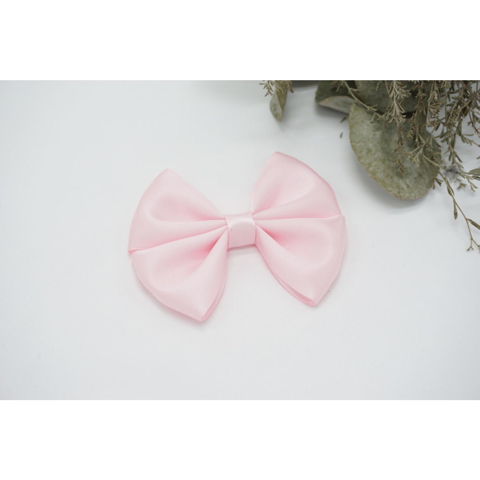 Petite Zara Satin Bow - Princess Pink