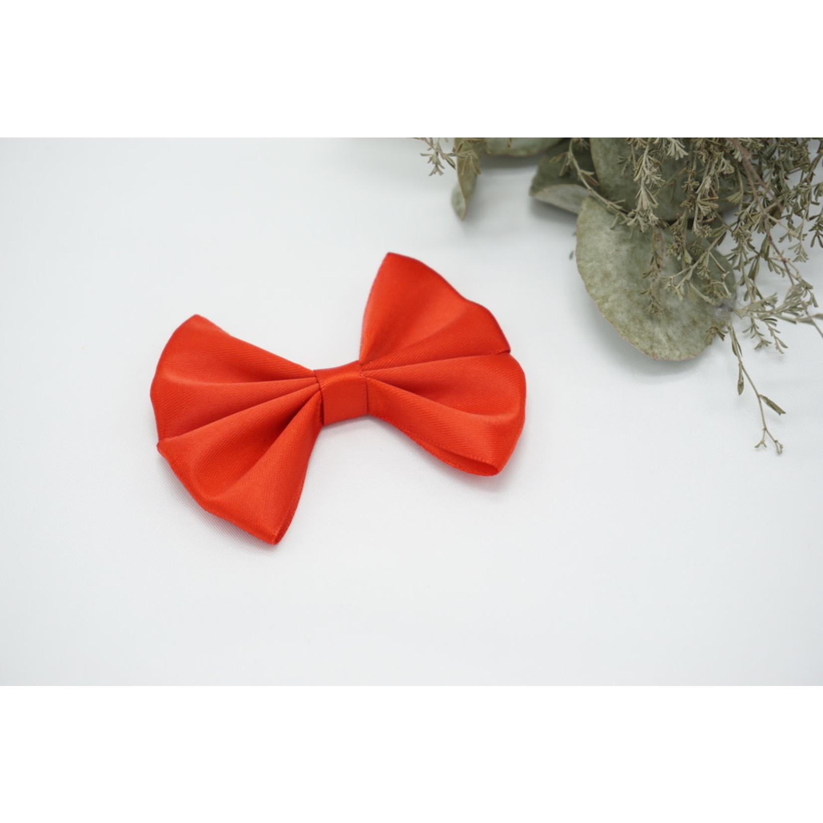 Petite Zara Satin Bow - Red