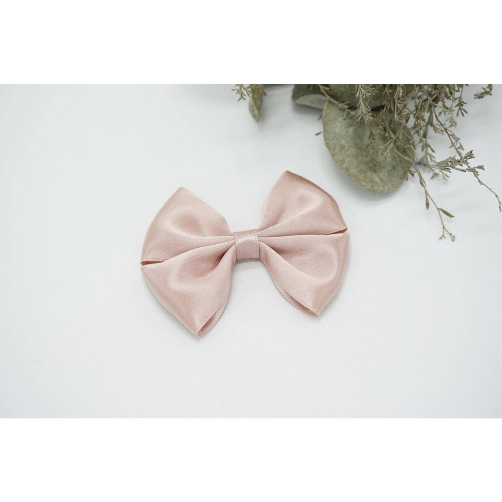 Petite Zara Satin Bow - Rosa