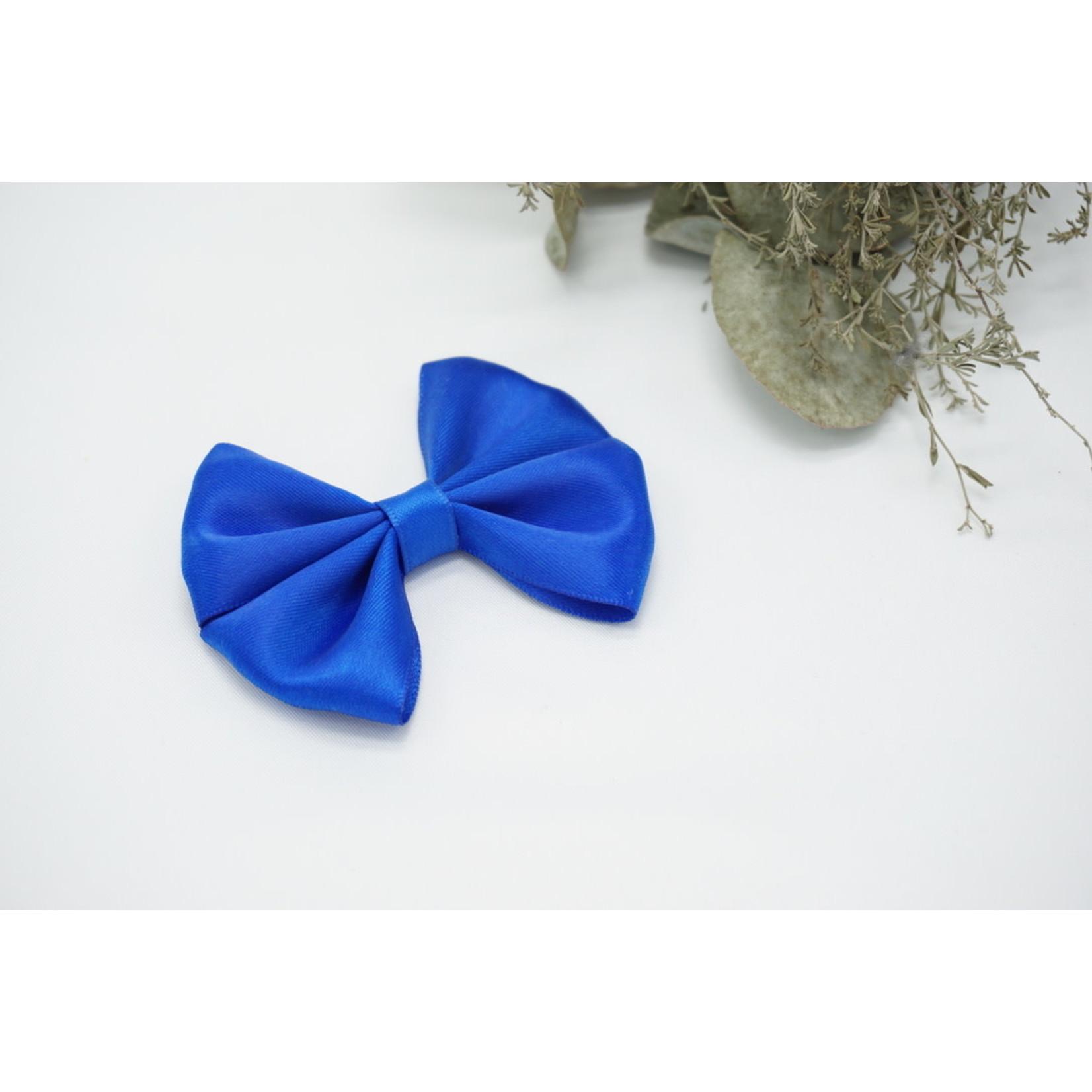Petite Zara Satin Bow - Royal Blue