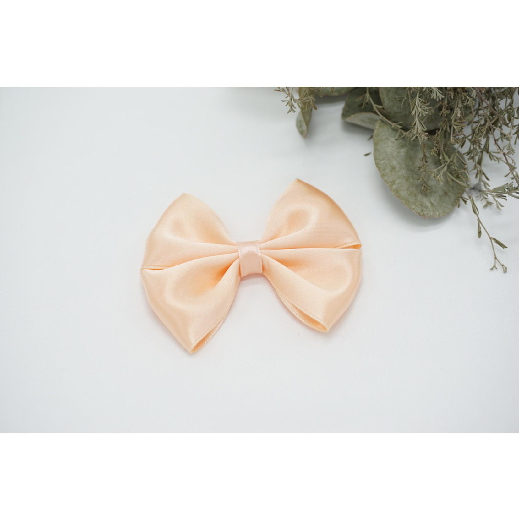 Petite Zara Satin Bow - Salmon