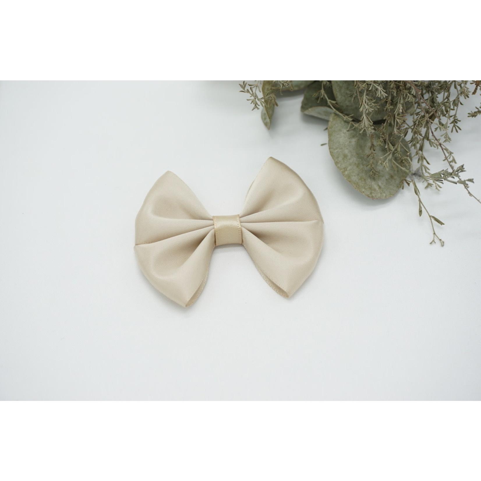Petite Zara Satin Bow - Sand