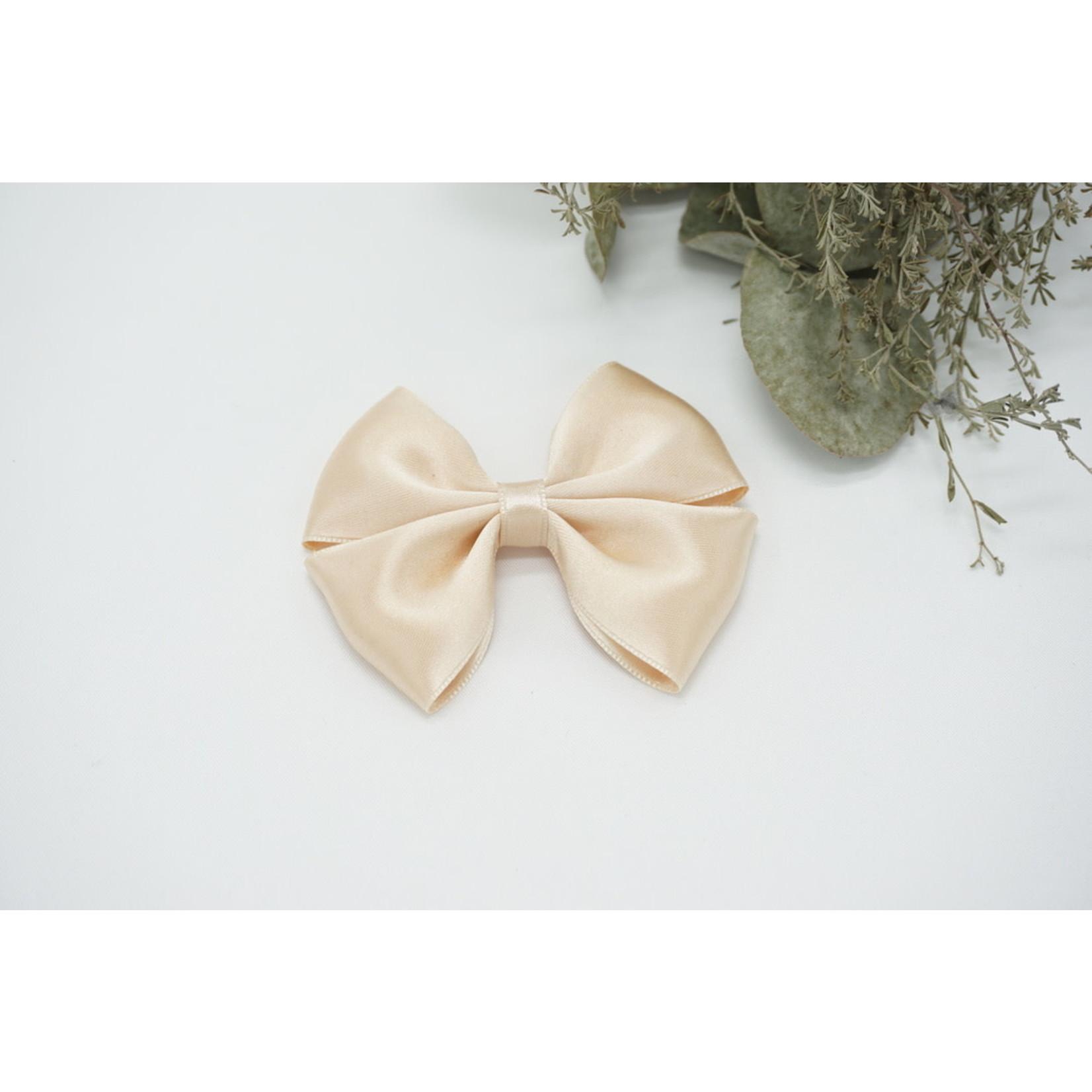 Petite Zara Satin Bow - Seashell
