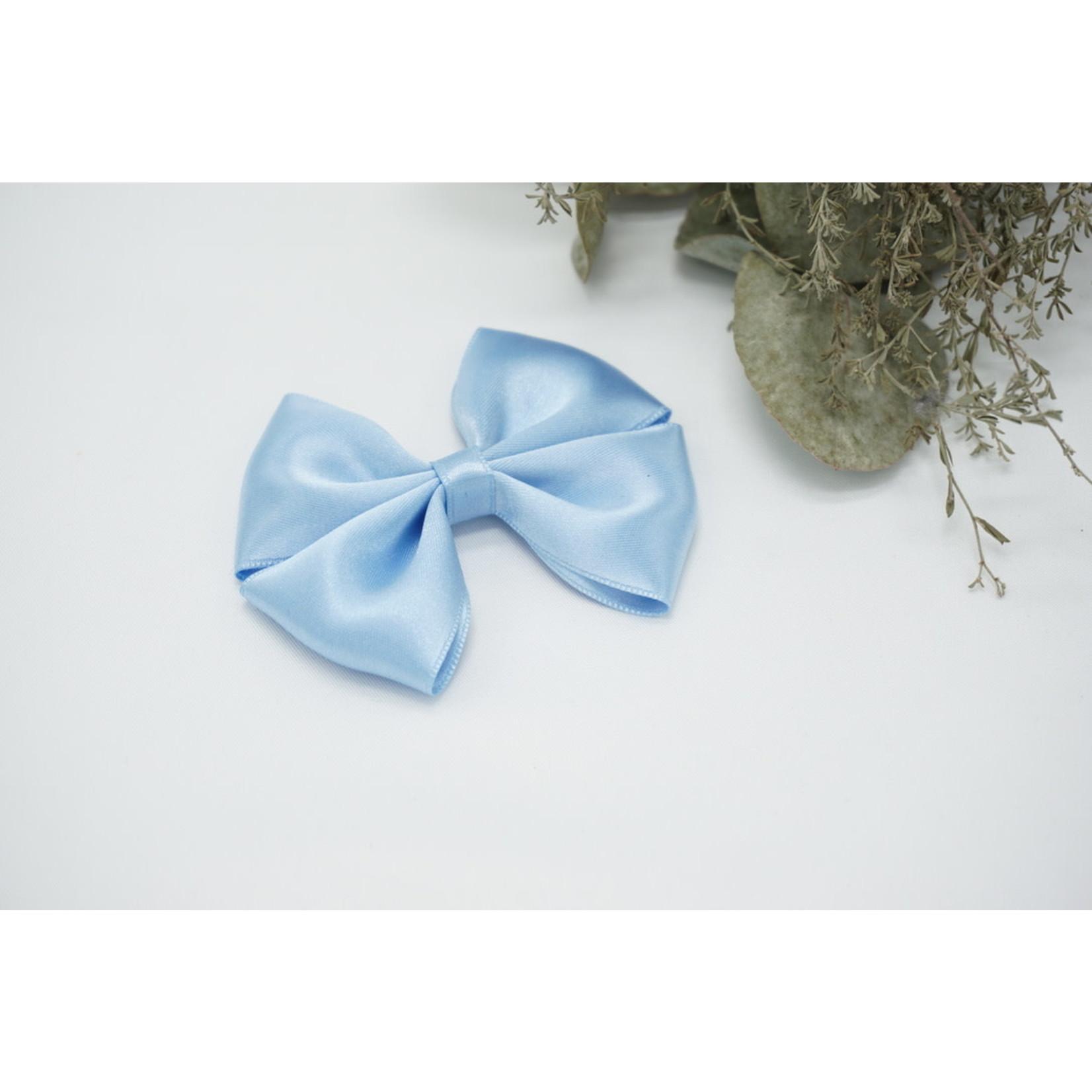 Petite Zara Satin Bow - Sky Blue
