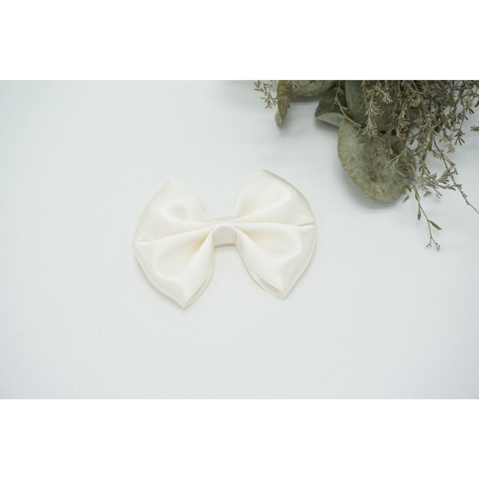 Petite Zara Satin Bow - Snow
