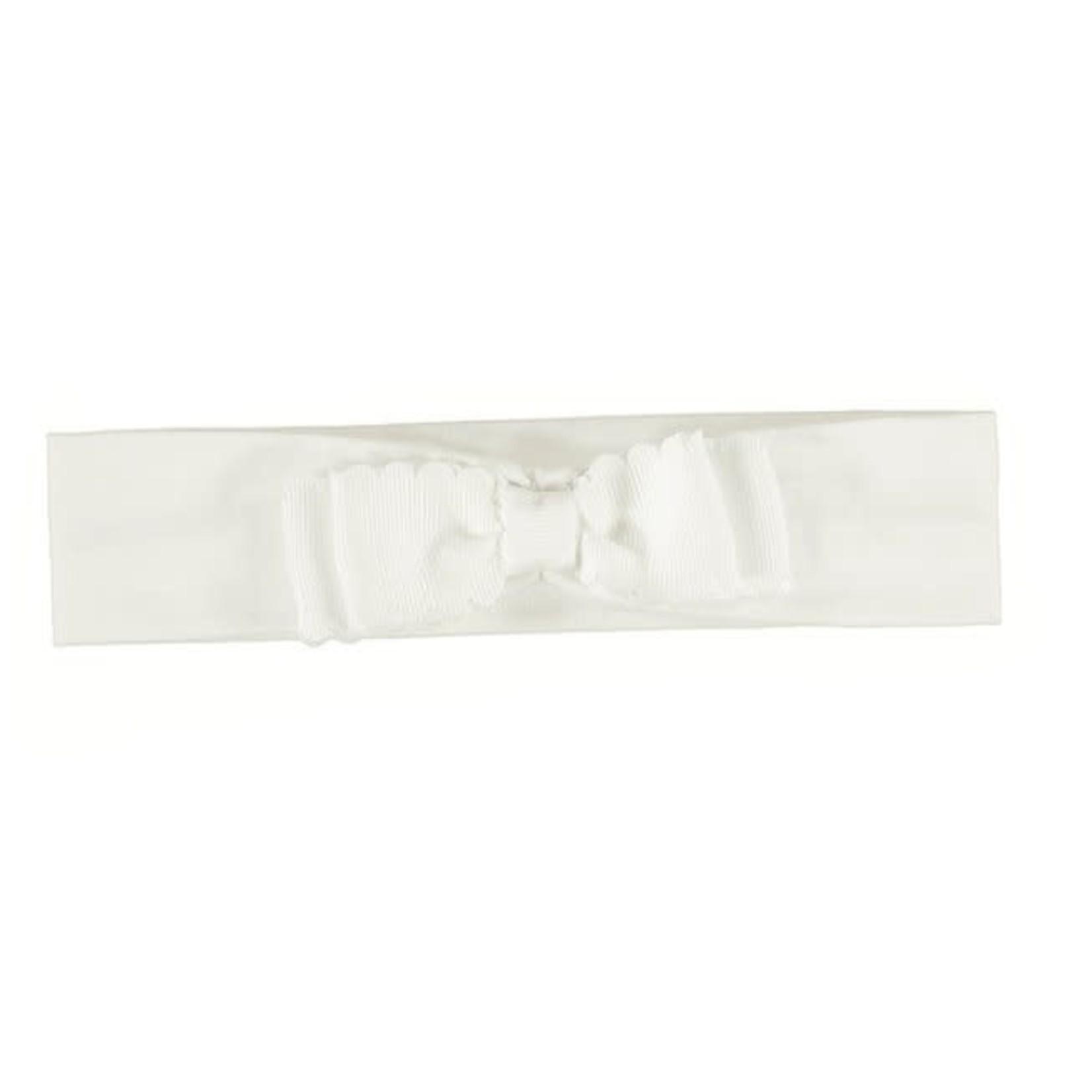 Mayoral Hairband Newborn - Ivory