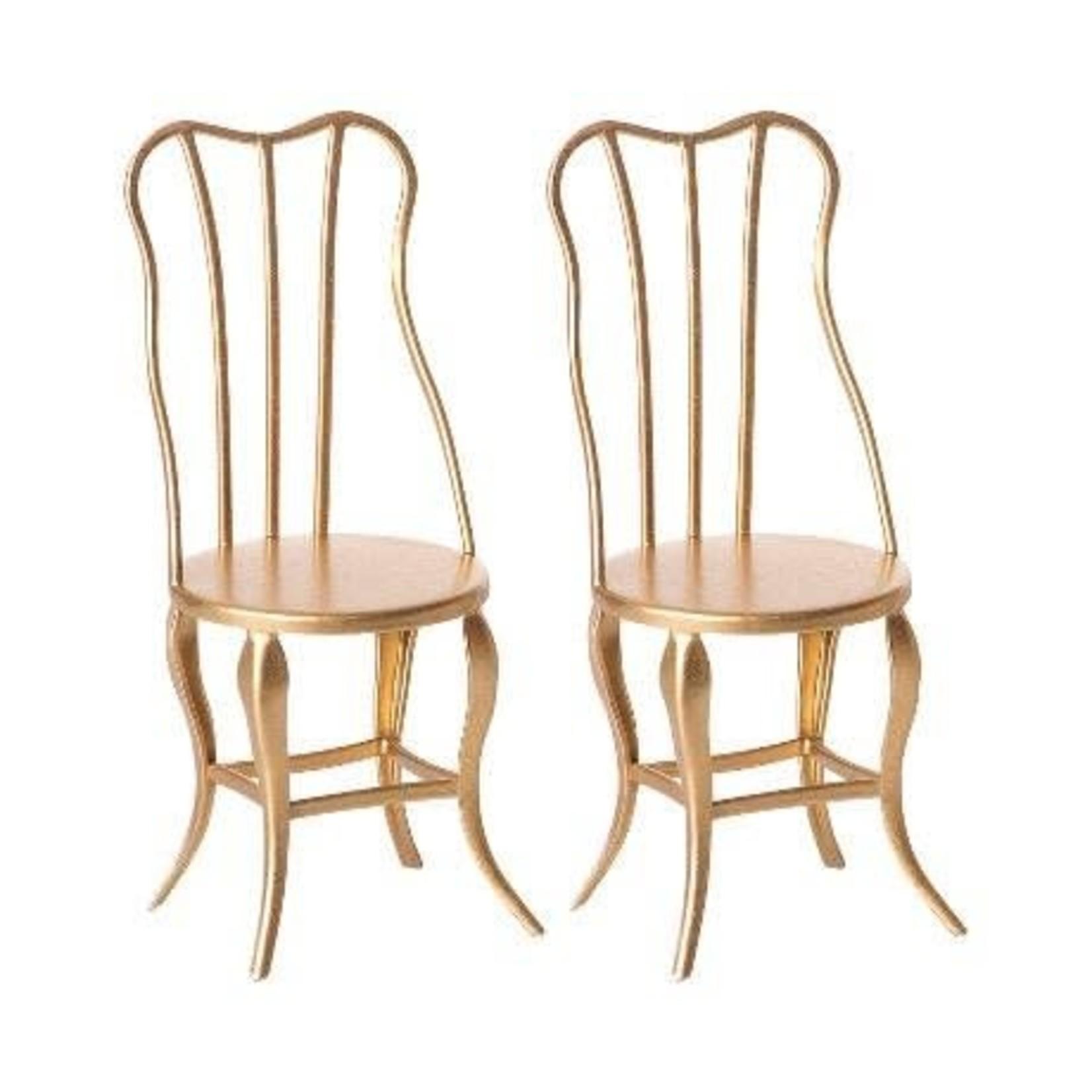 Maileg Vintage Chair, Gold - Maileg