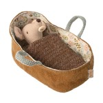 Maileg Baby Mouse in carrycot - Maileg