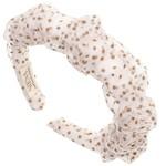 Hairband Scrunchie - Tule Camel Dots