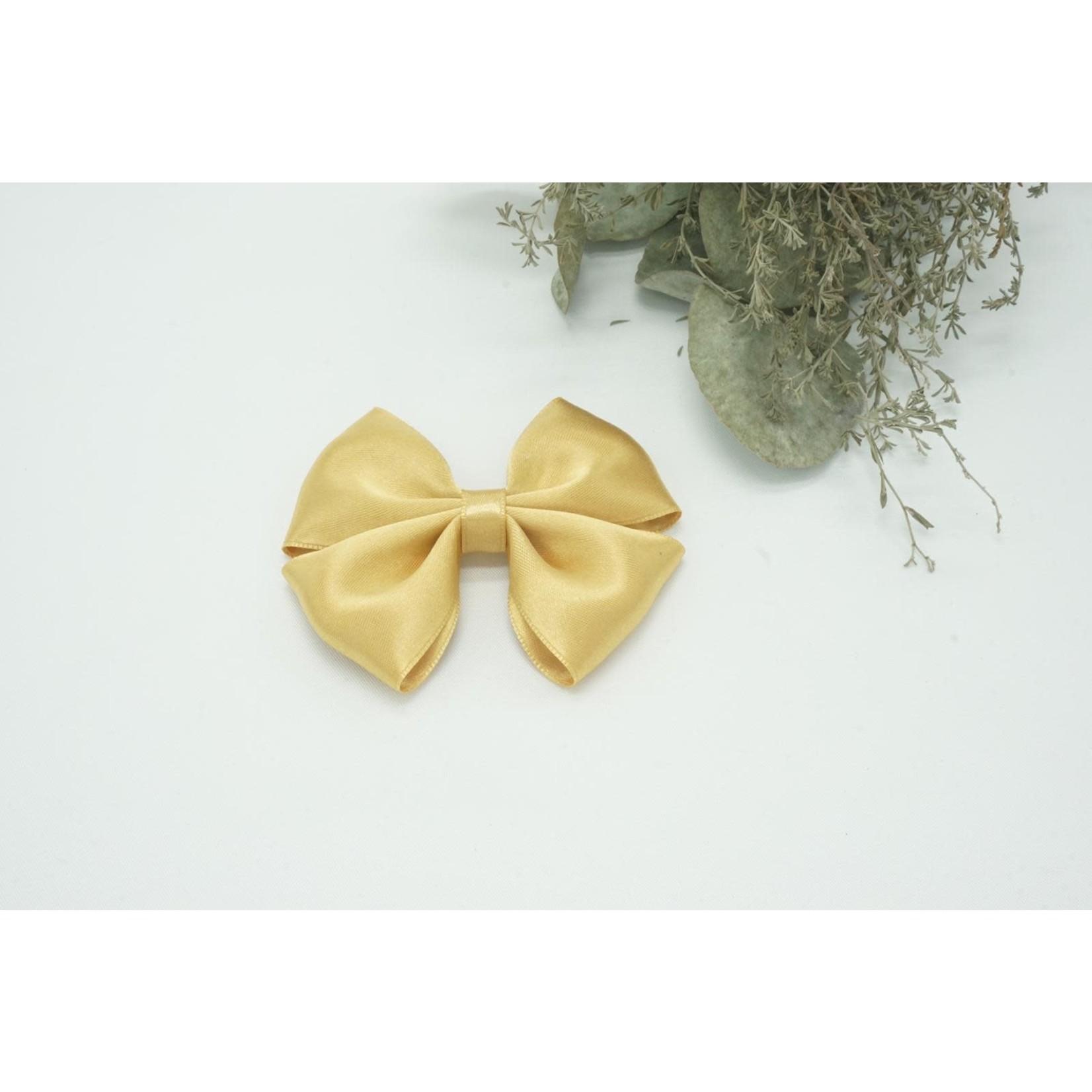 Petite Zara Satin Bow - Mustard