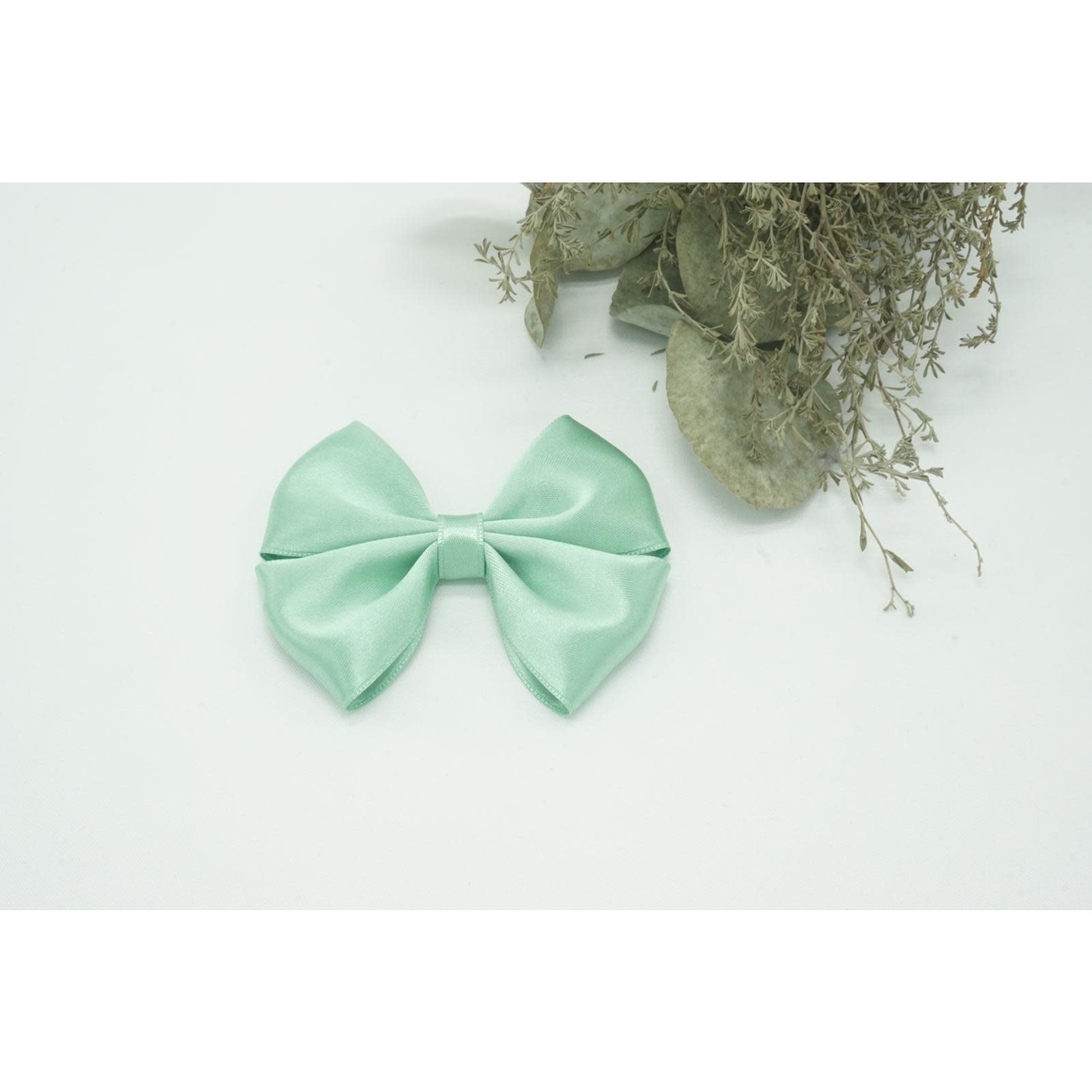 Petite Zara Satin Bow - Moss Green