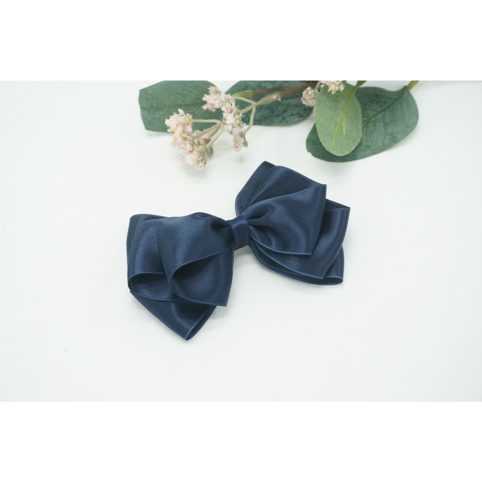 Petite Zara Butterfly Bow - Navy 12cm