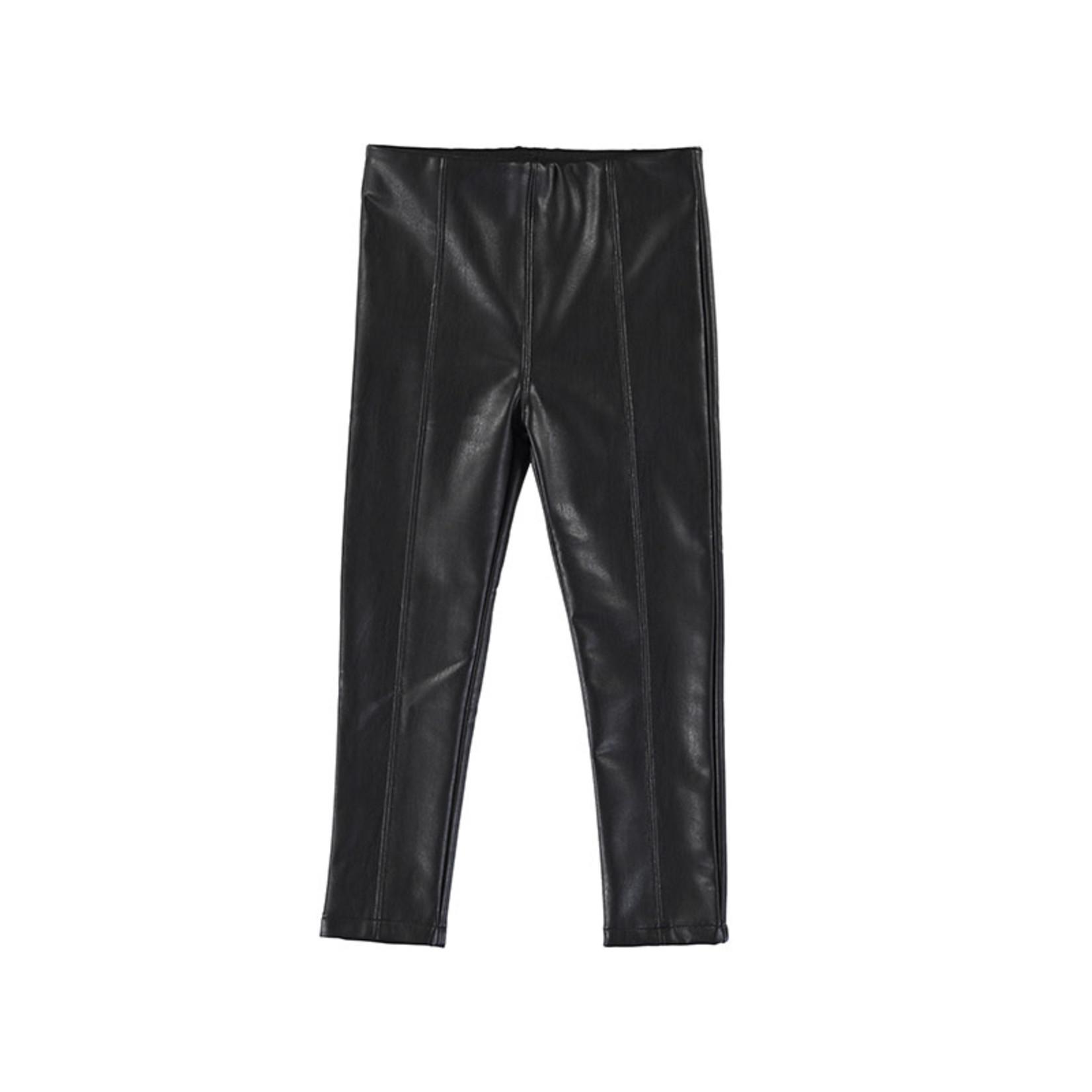 Mayoral Leather leggings - Black