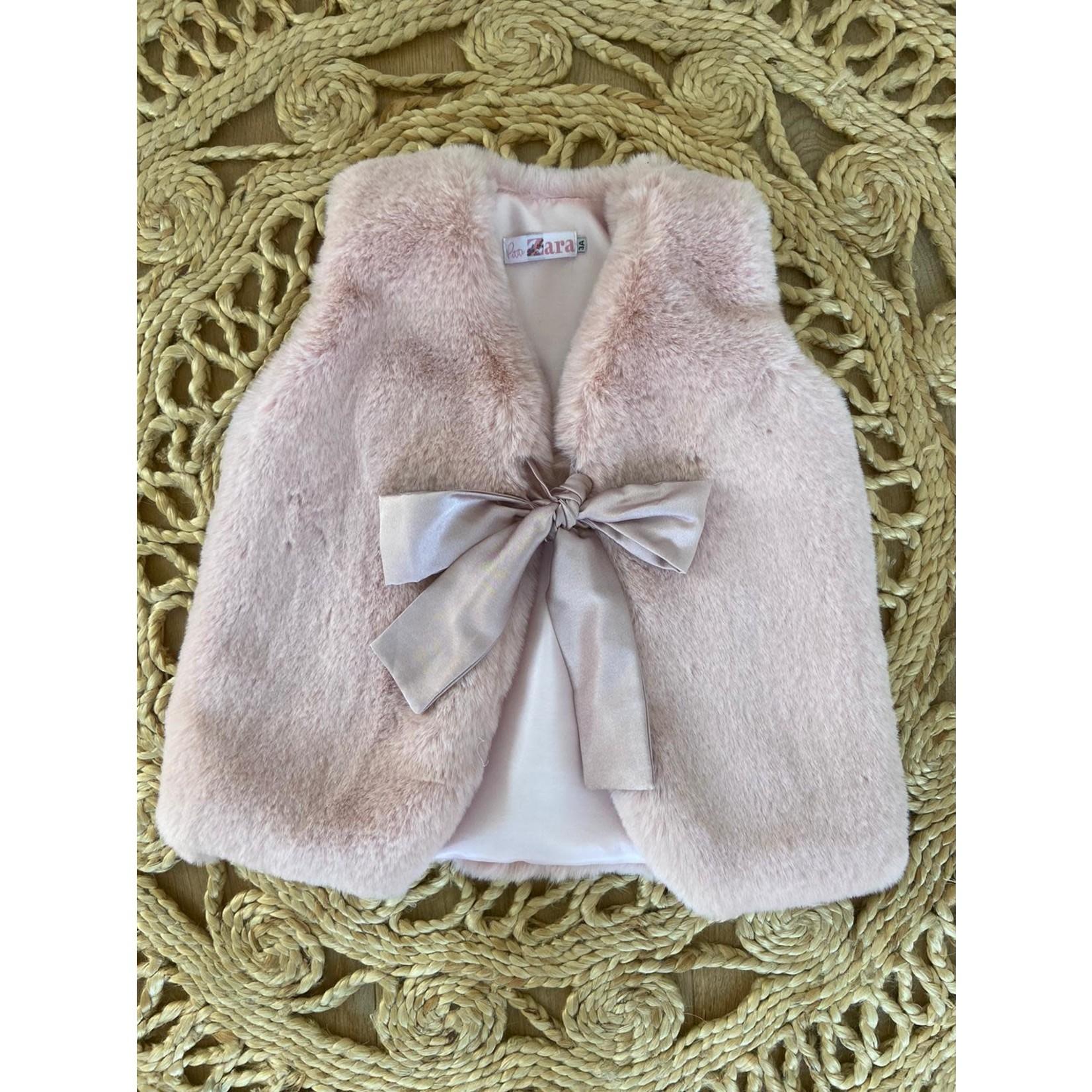 Faux Fur Gilet - Dusty Pink