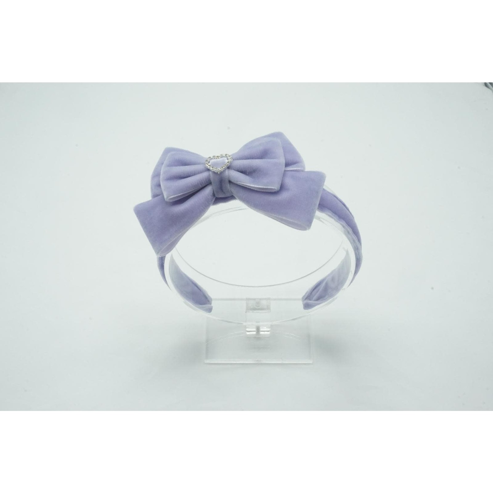 Petite Zara Velvet Diadeem Butterfly Bow - Mauve