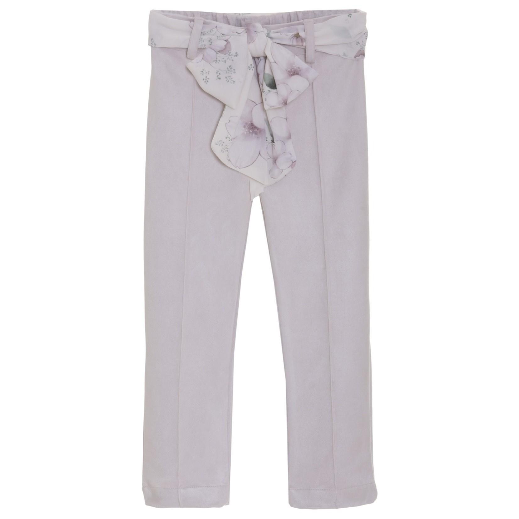 Patachou Pants Suede Floral - Patachou