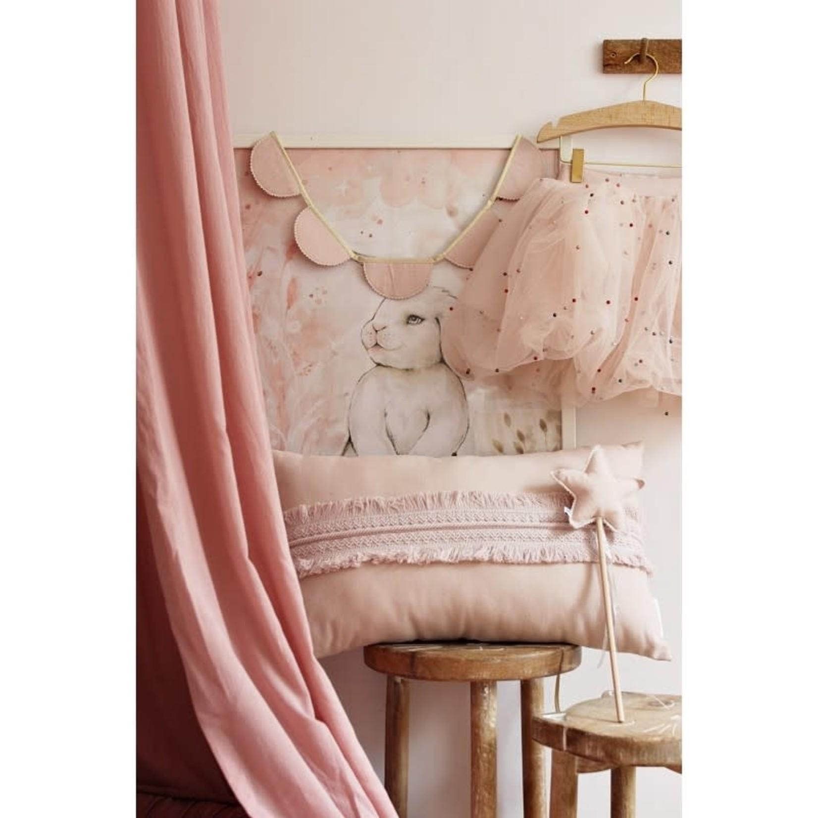 Boho Pillow Large - Powder Pink