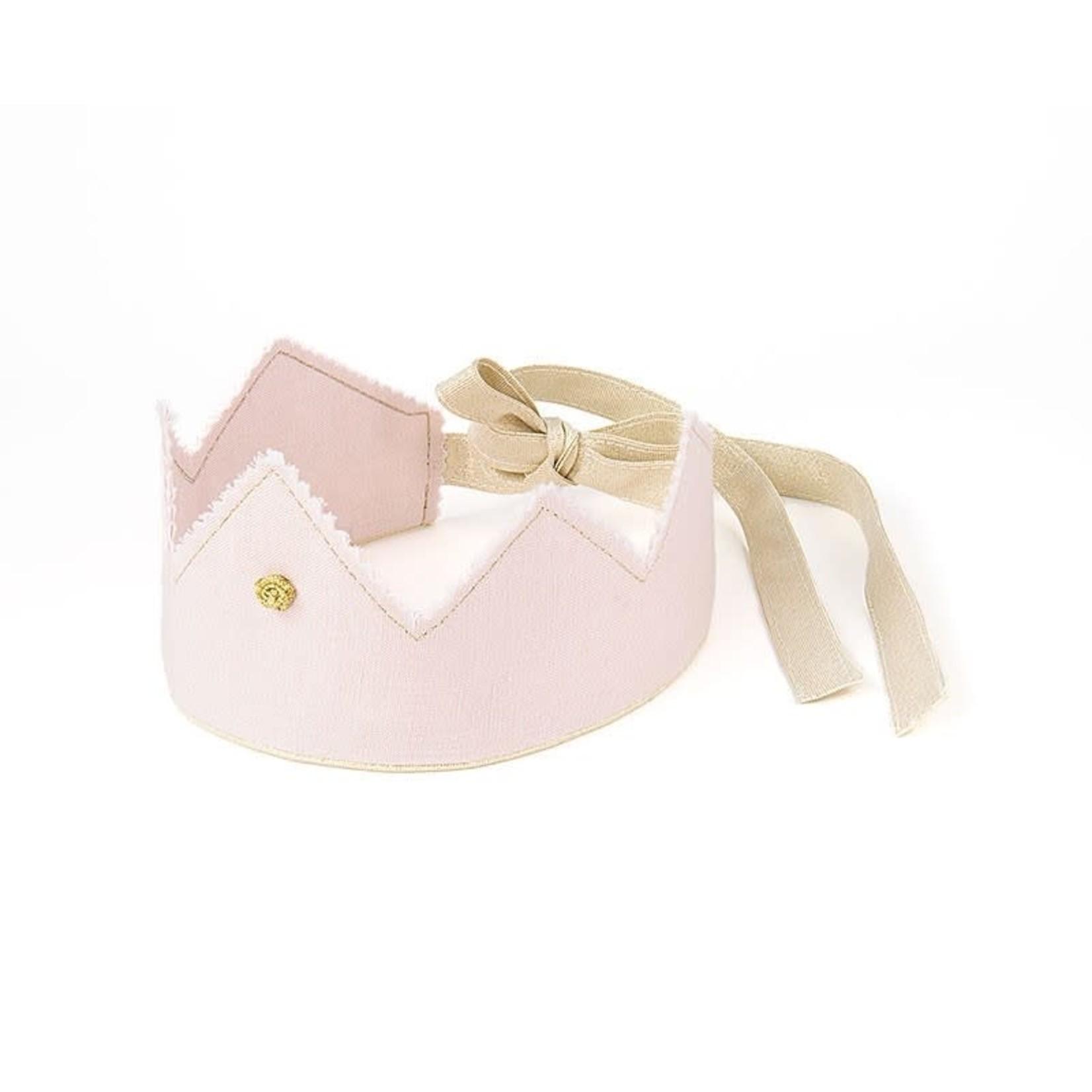 Cotton & Sweets Linen Crown - Powder Pink