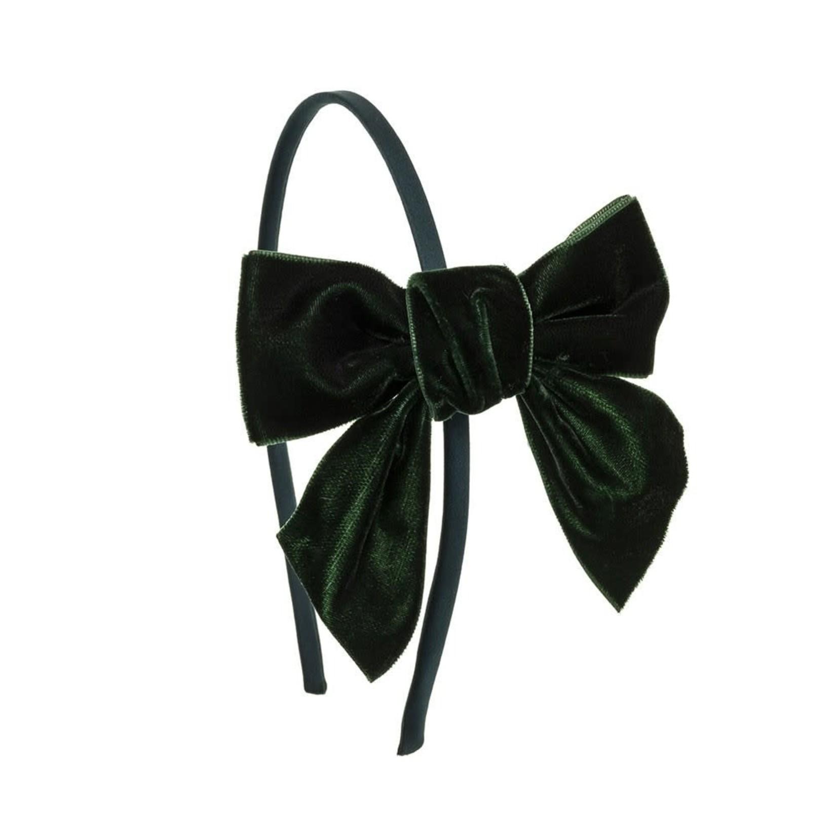 Diadeem Velvet Bow - Green