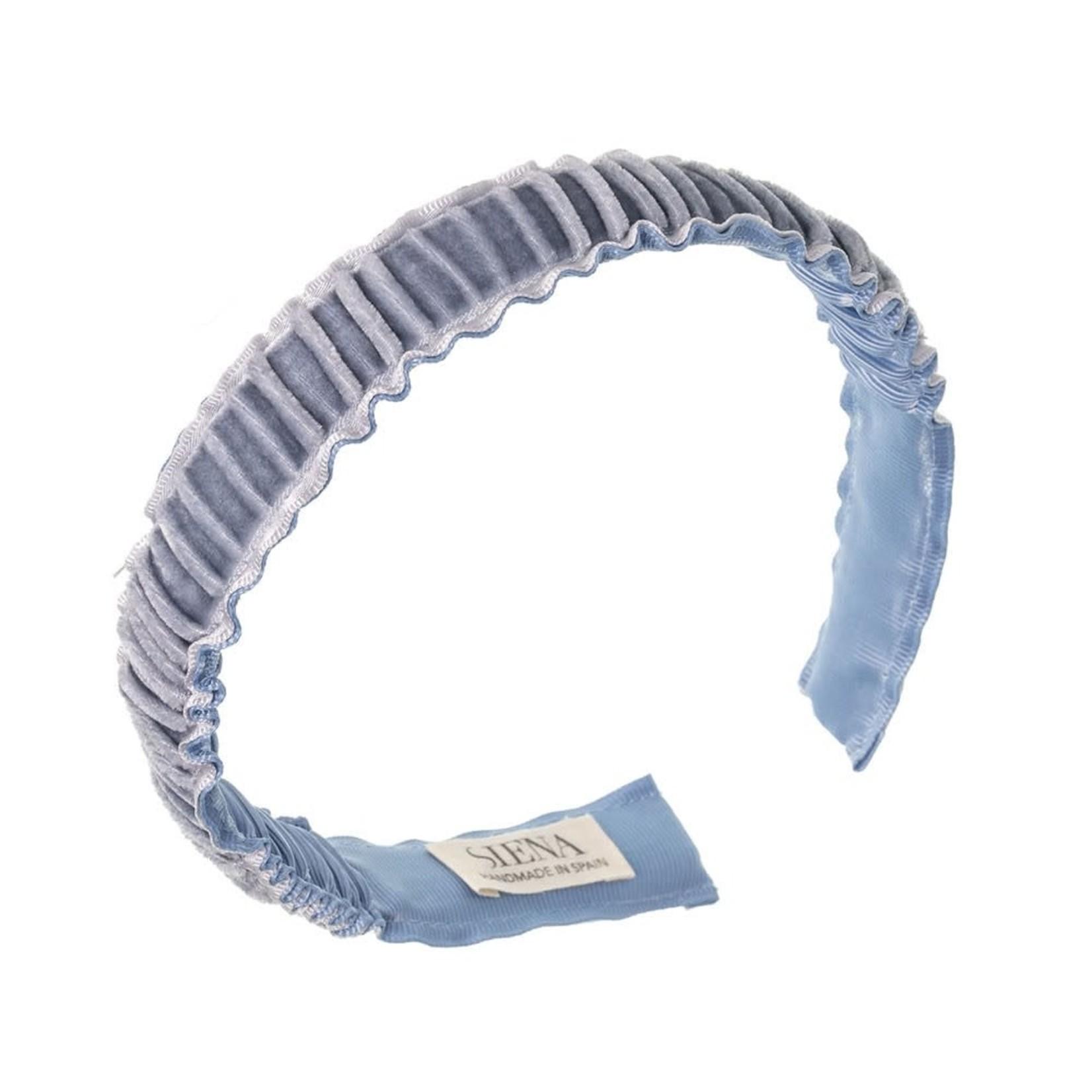Diadeem Velvet Ruffel - Pale Blue