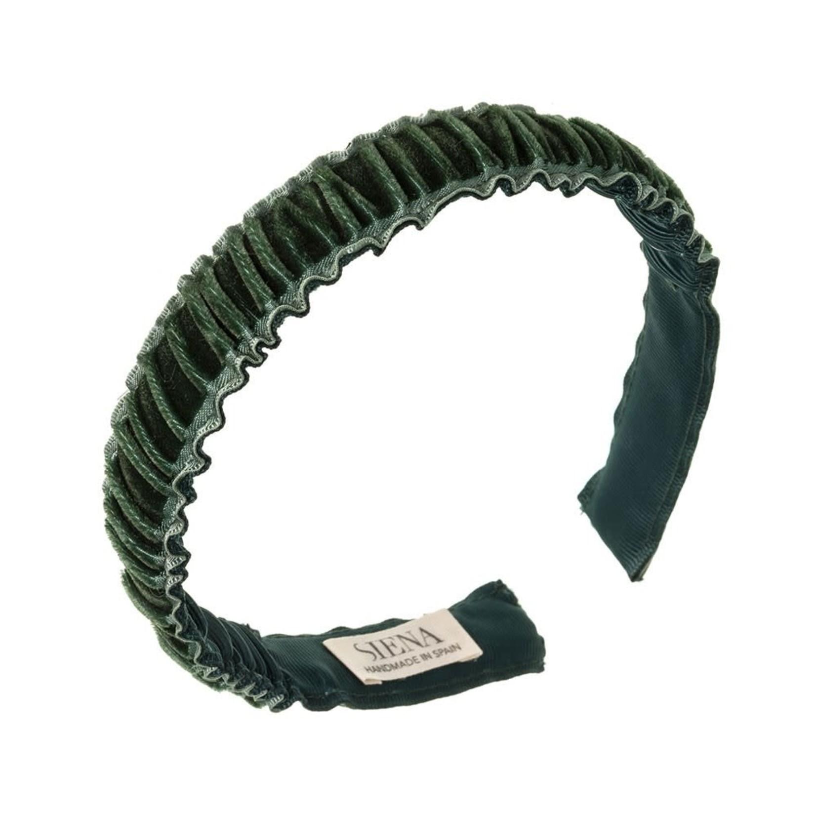Diadeem Velvet Ruffel - Green