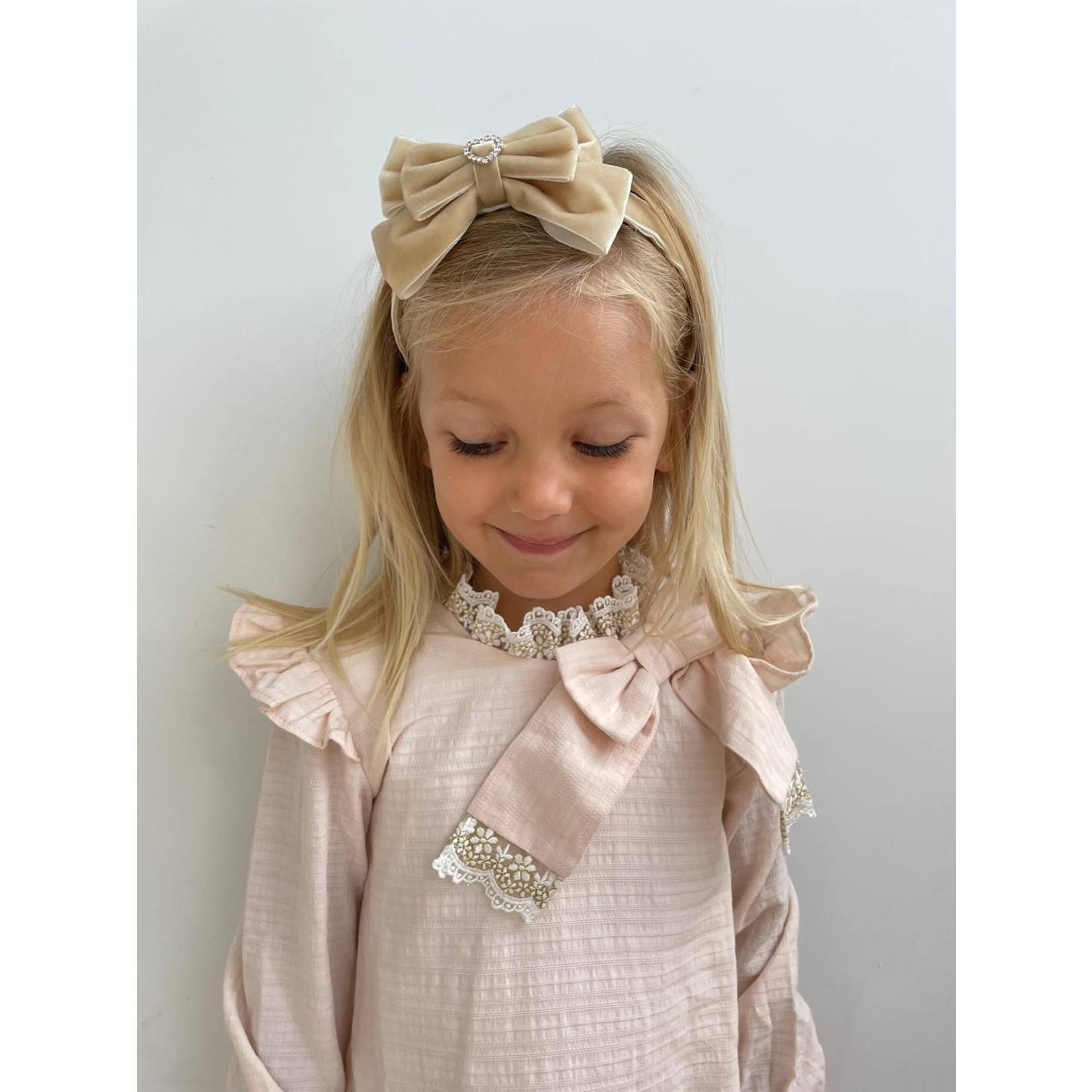 Petite Zara Velvet Diadeem Butterfly Bow - Lino